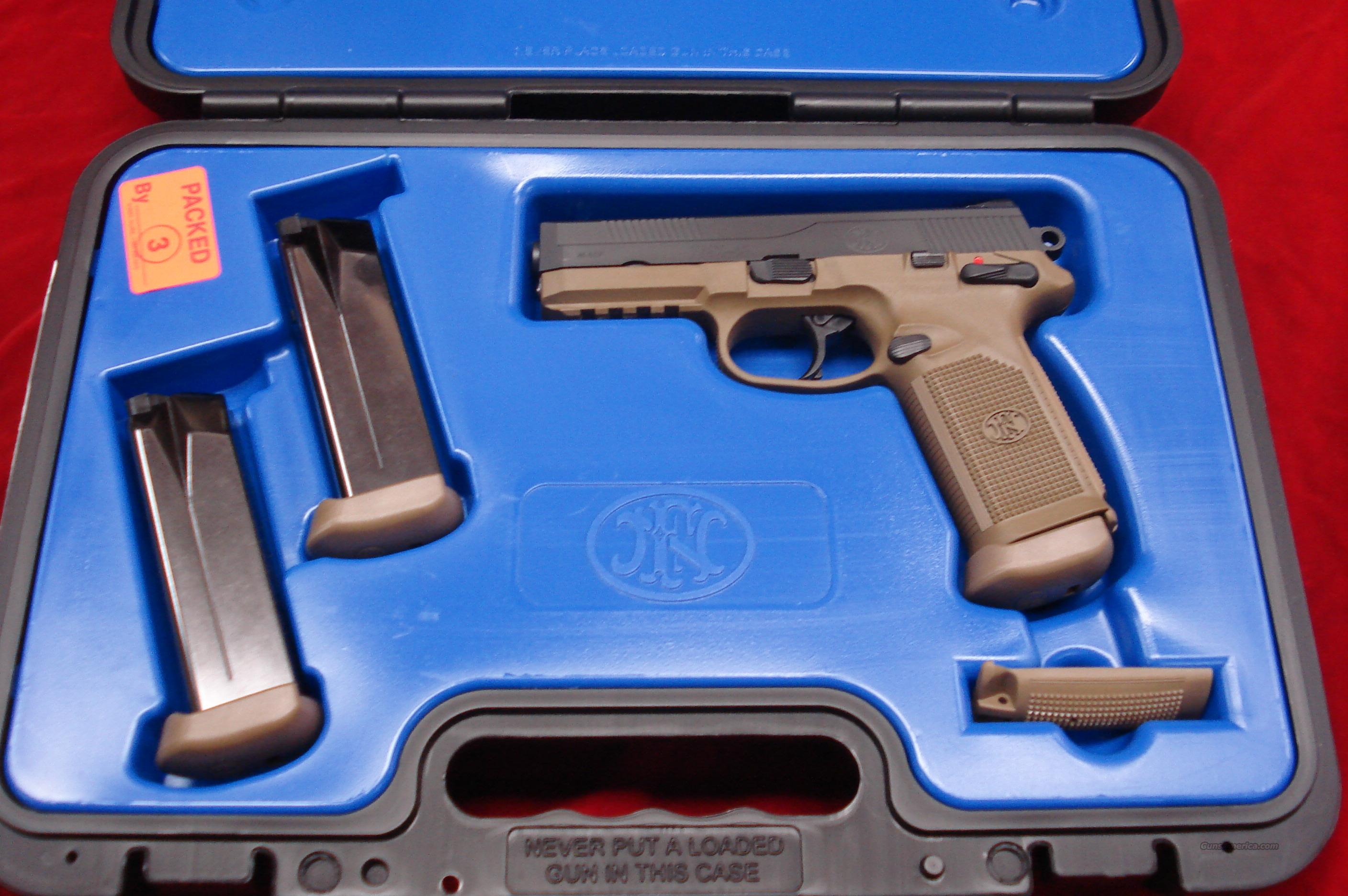 FN FNX-45 FLAT DARK EARTH/BLACK NEW  Guns > Pistols > FNH - Fabrique Nationale (FN) Pistols > FNP