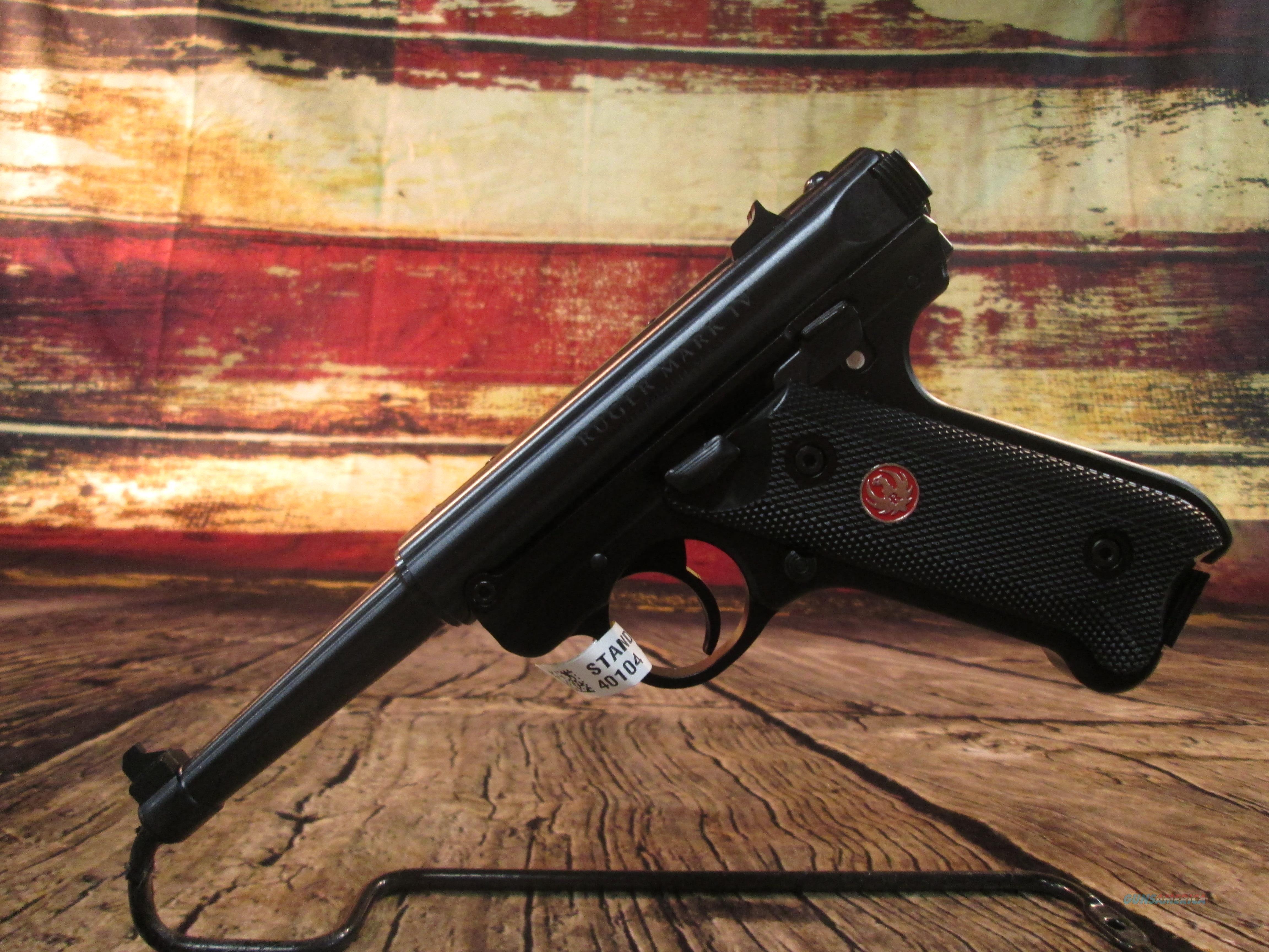 RUGER MKIV STANDARD 22LR (40104)  Guns > Pistols > Ruger Semi-Auto Pistols > Mark I/II/III/IV Family