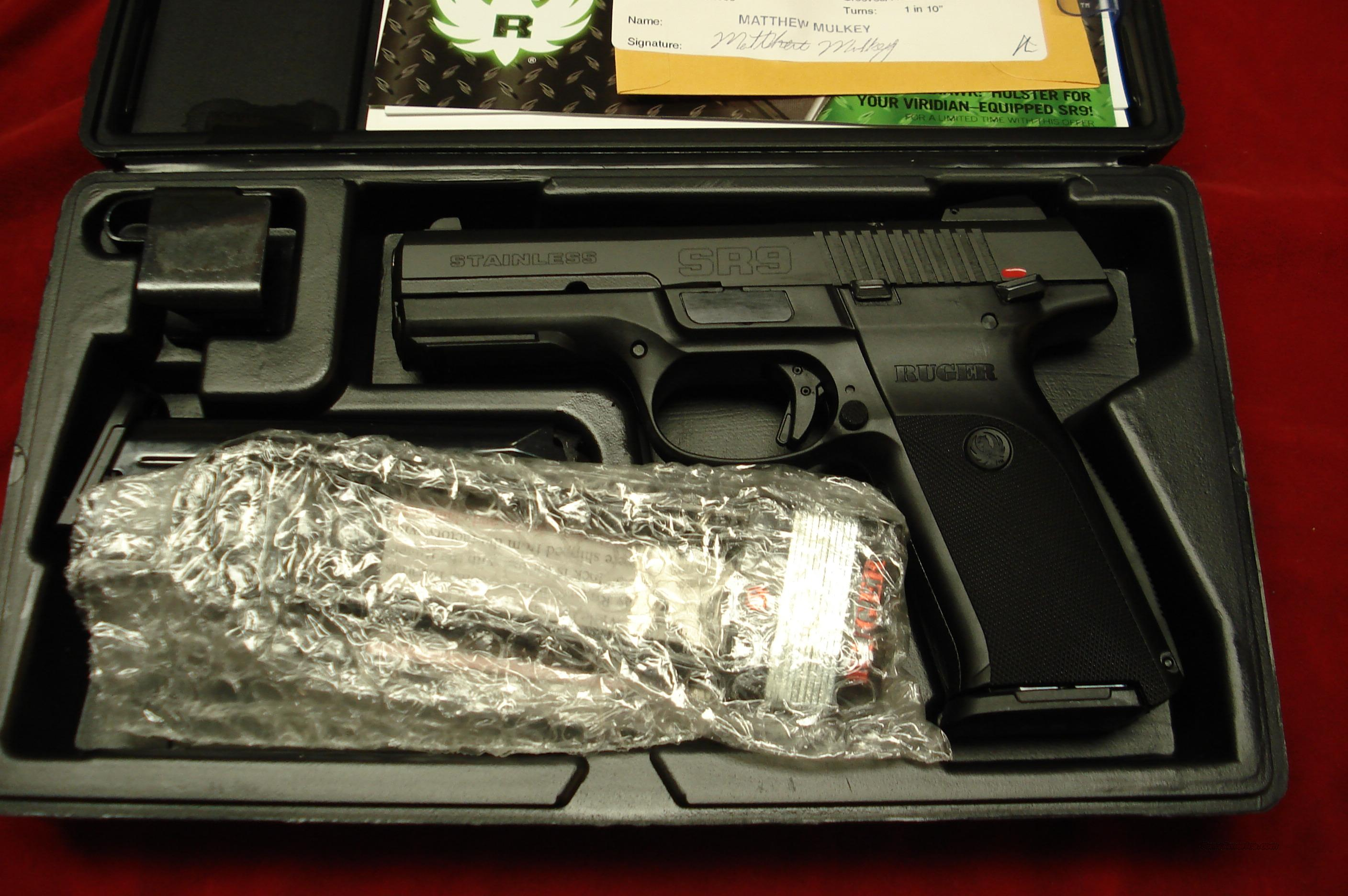 RUGER **NEW RELEASE** SR9 HIGH CAP. BLACKENED STAINLESS NEW (IN STOCK)!  (KBSR9)  Guns > Pistols > Ruger Semi-Auto Pistols > SR9