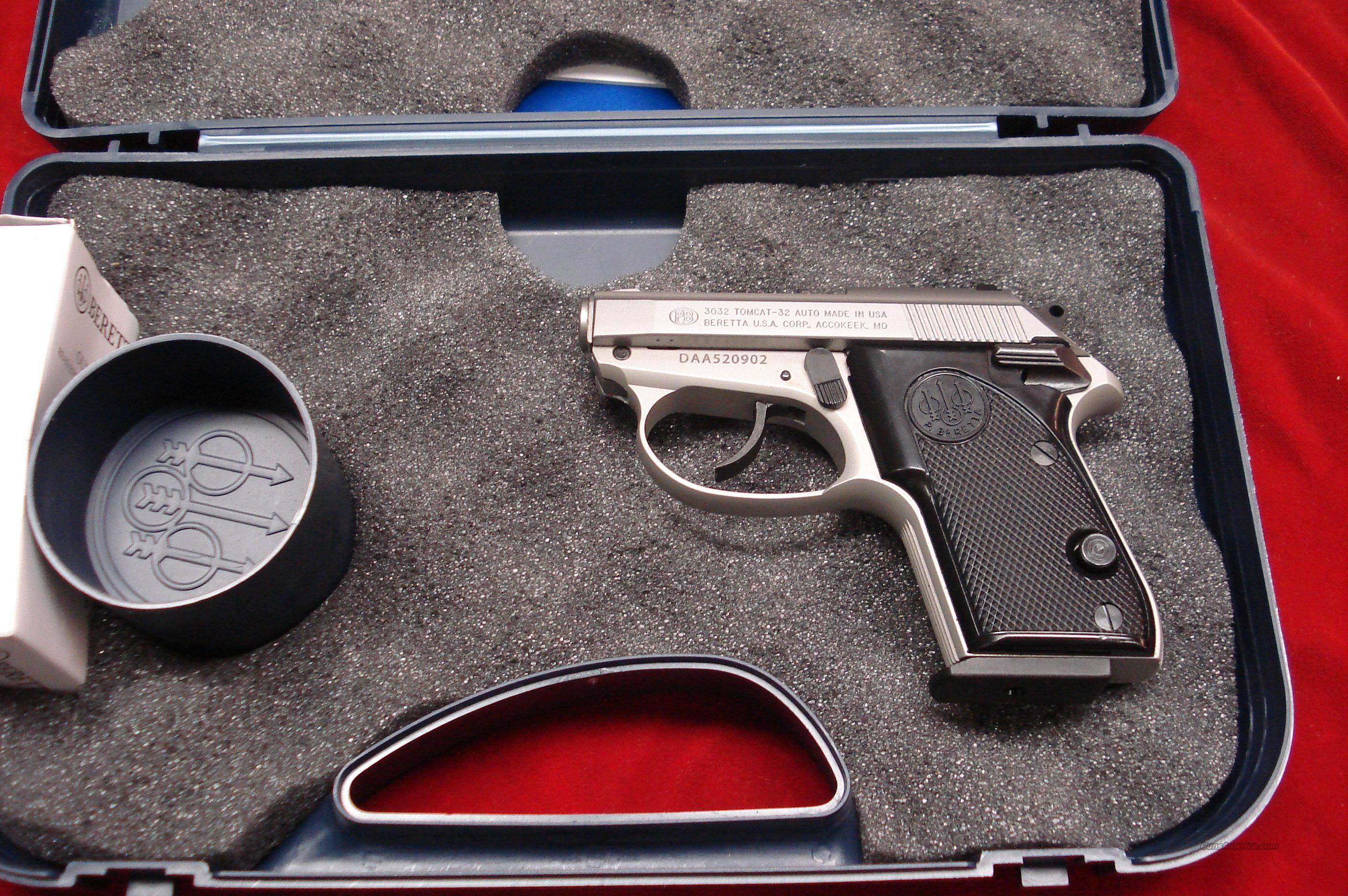 BERETTA TOMCAT 32ACP INOX NEW  Guns > Pistols > Beretta Pistols > Small Caliber Tip Out