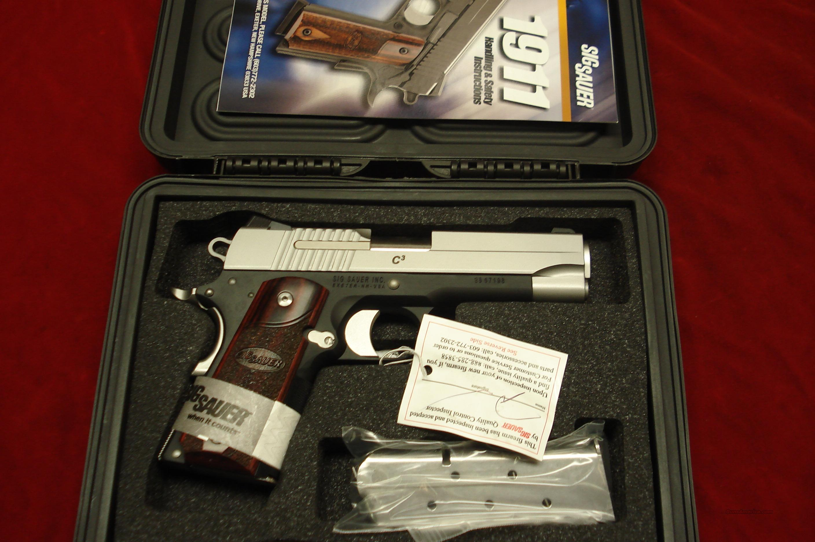 SIG SAUER 1911 COMPACT TWO-TONE 45CAL.  NEW  Guns > Pistols > Sig - Sauer/Sigarms Pistols > 1911