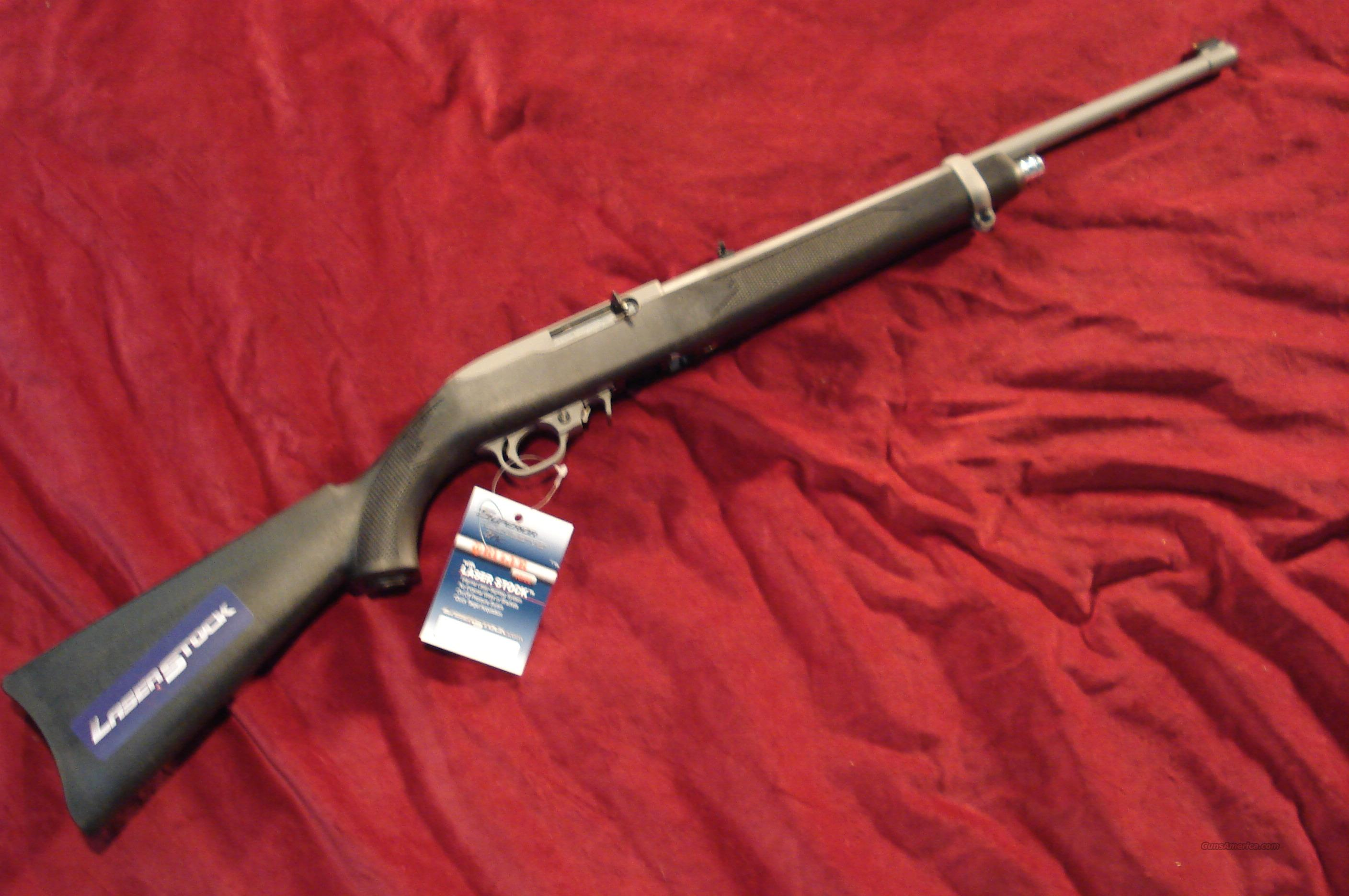 RUGER 10/22 STAINLESS WITH LASER INSTALLED NEW  Guns > Rifles > Ruger Rifles > 10-22
