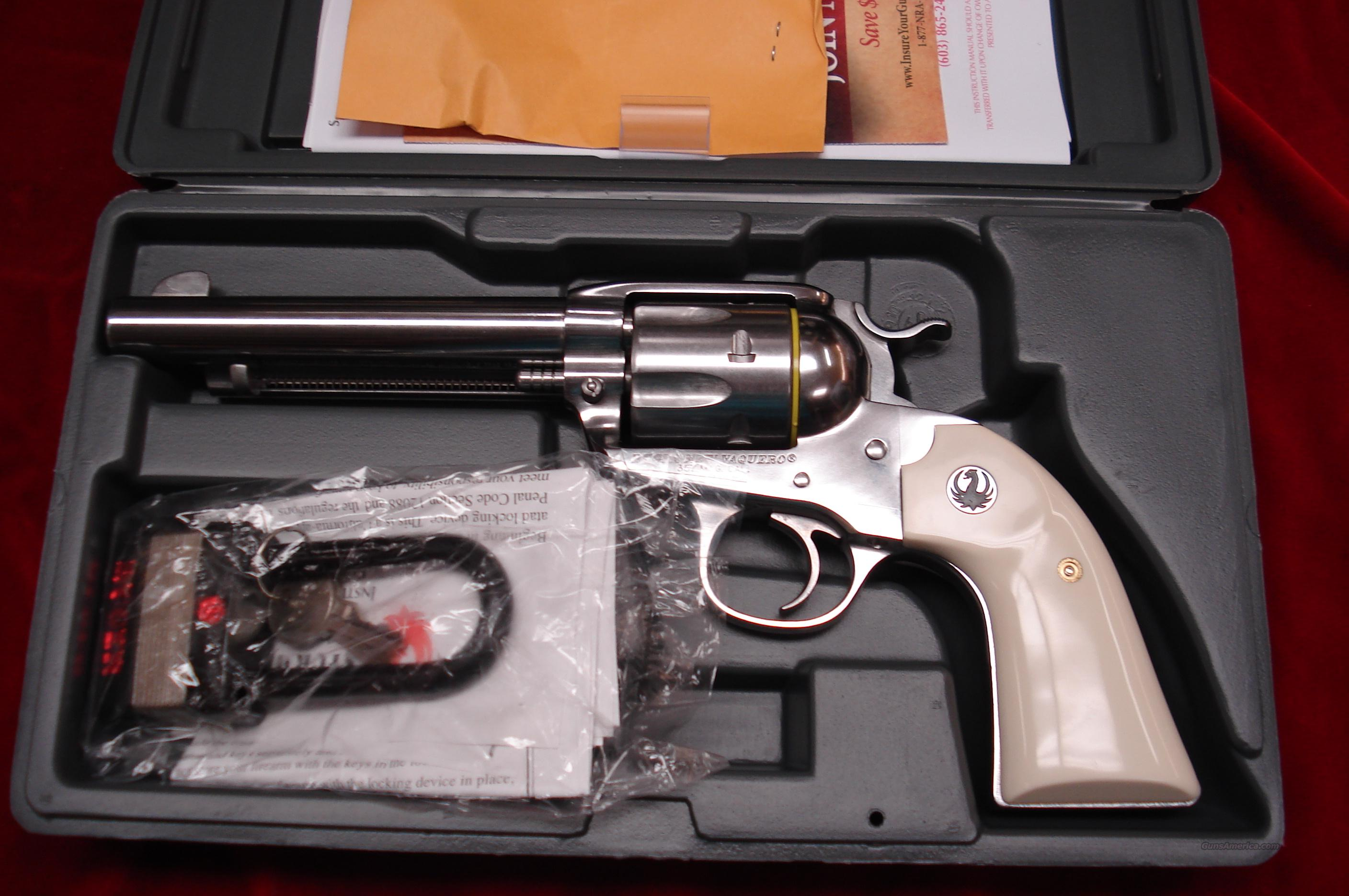 RUGER BISLEY VAQUERO 357MAG POLISHED STAINLESS NEW   (KNVRB-35)  Guns > Pistols > Ruger Single Action Revolvers > Cowboy Action