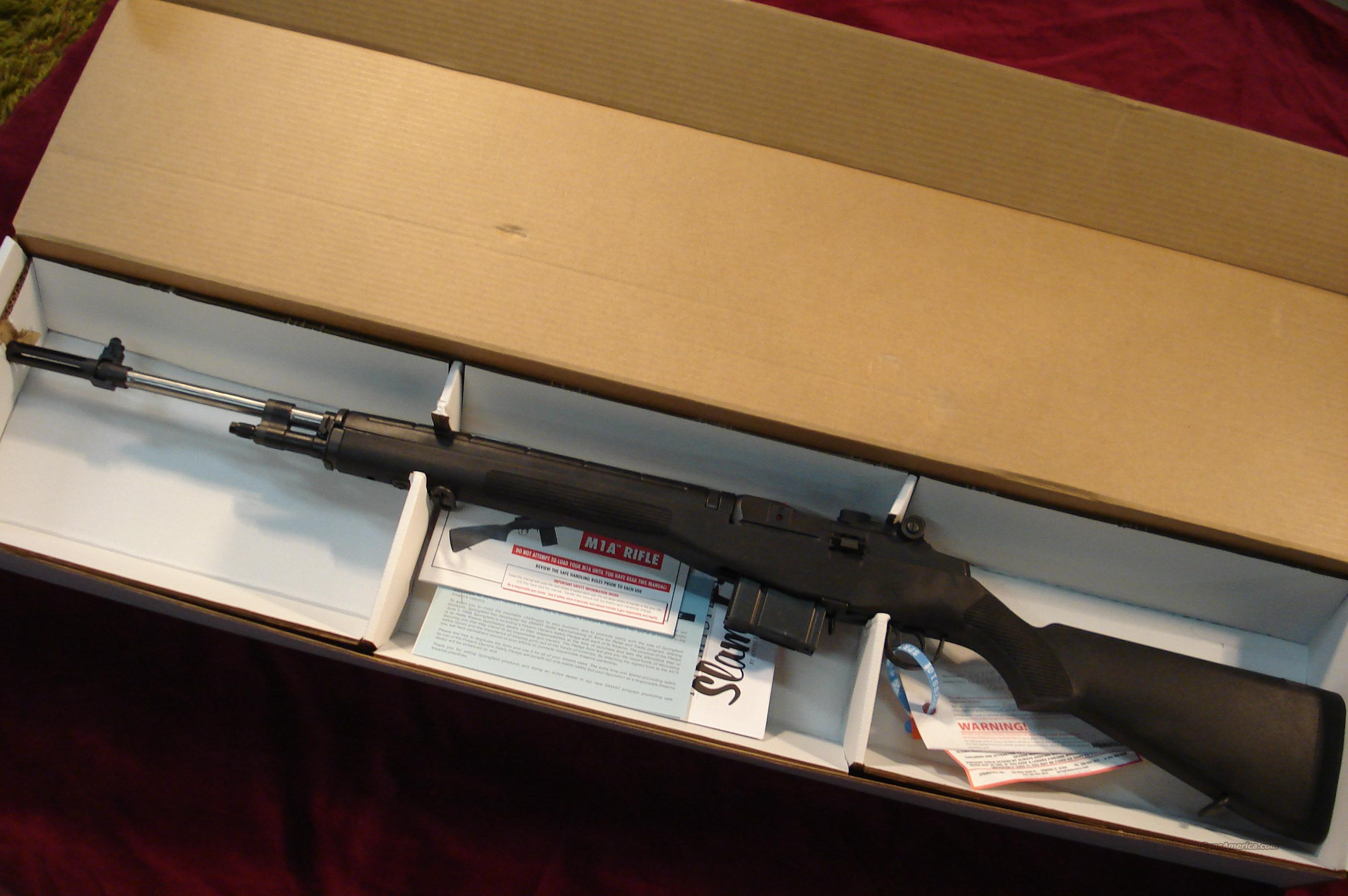 SPRINGFIELD ARMORY M1A STAINLESS LOADED BLACK FIBERGLASS (MA9826) NEW  Guns > Rifles > Springfield Armory Rifles > M1A/M14