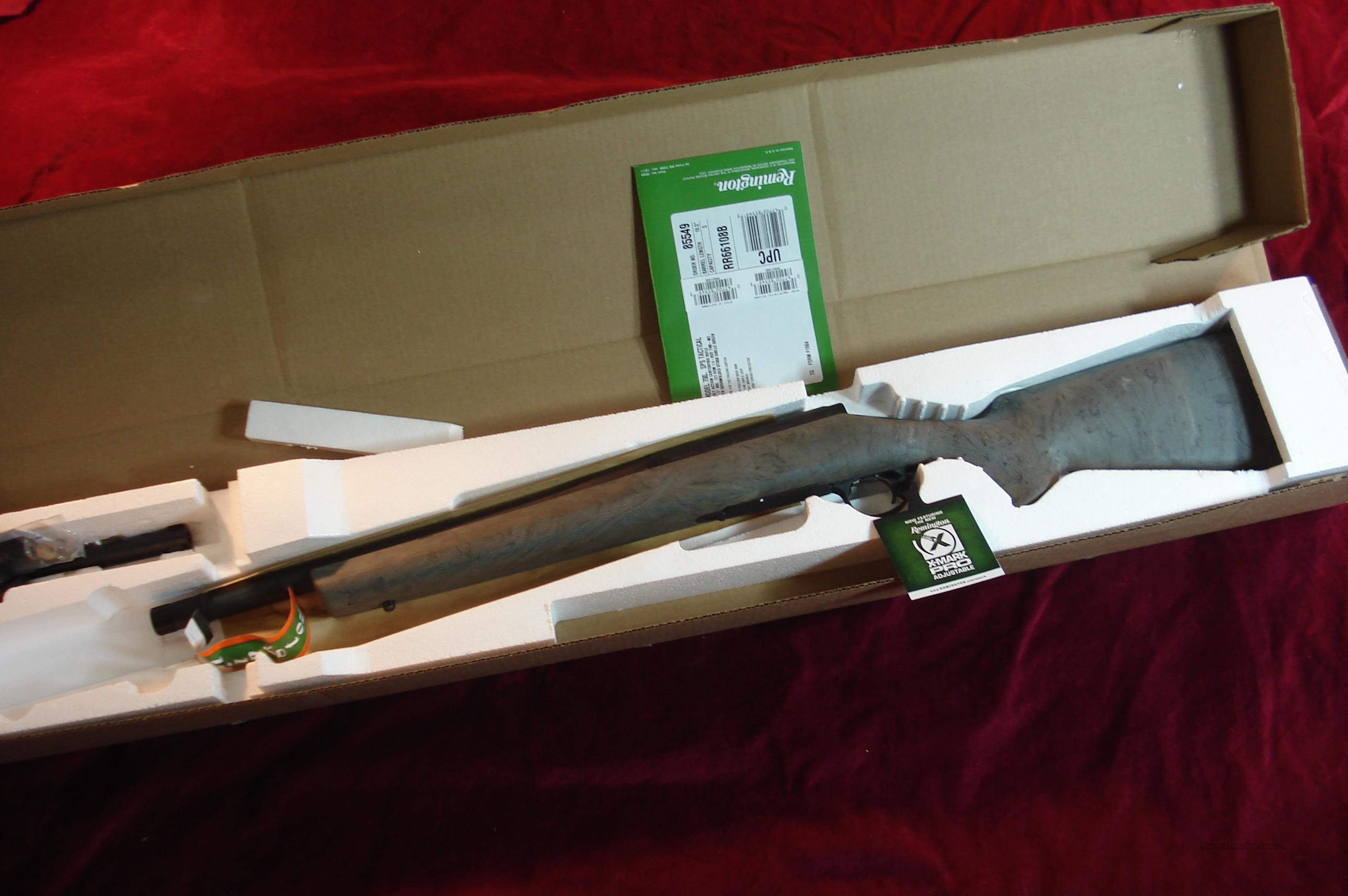 REMINGTON 700SPS TACTICAL (SUPRESSOR READY) 223CAL..NEW   Guns > Rifles > Remington Rifles - Modern > Model 700 > Tactical