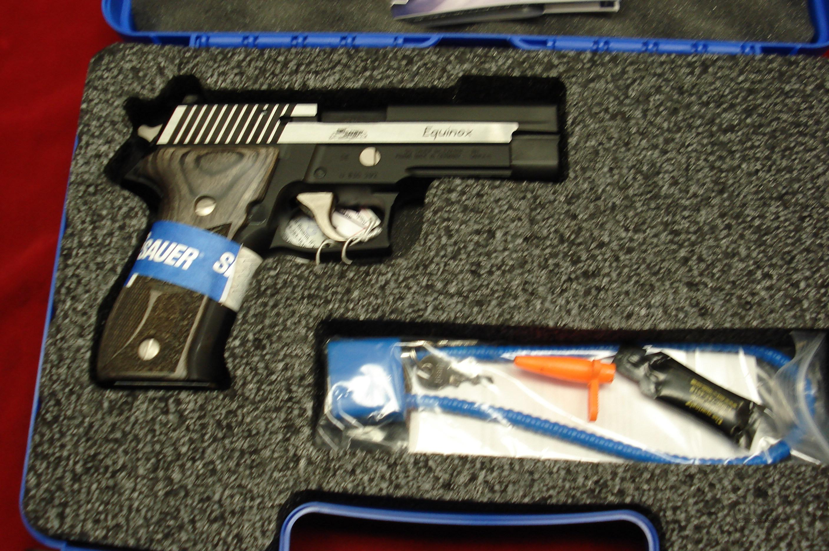 SIG SAUER P226 EQUINOX 40CAL. STAINLESS TWO TONE WITH NIGHT SIGHTS NEW   Guns > Pistols > Sig - Sauer/Sigarms Pistols > P226