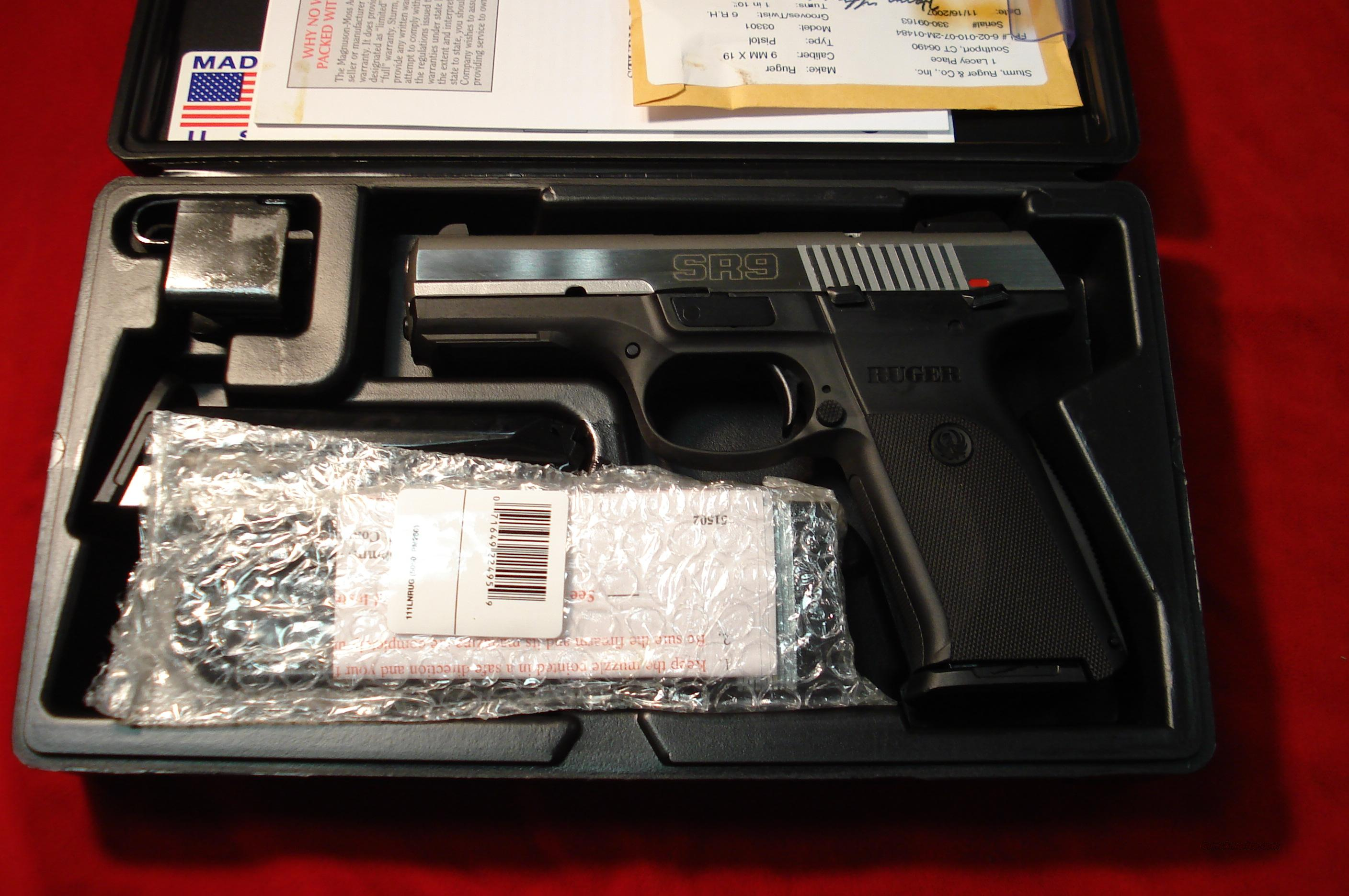 RUGER  **NEW RELEASE** SR9  STAINLESS  NEW (IN STOCK)!   Guns > Pistols > Ruger Semi-Auto Pistols > SR9