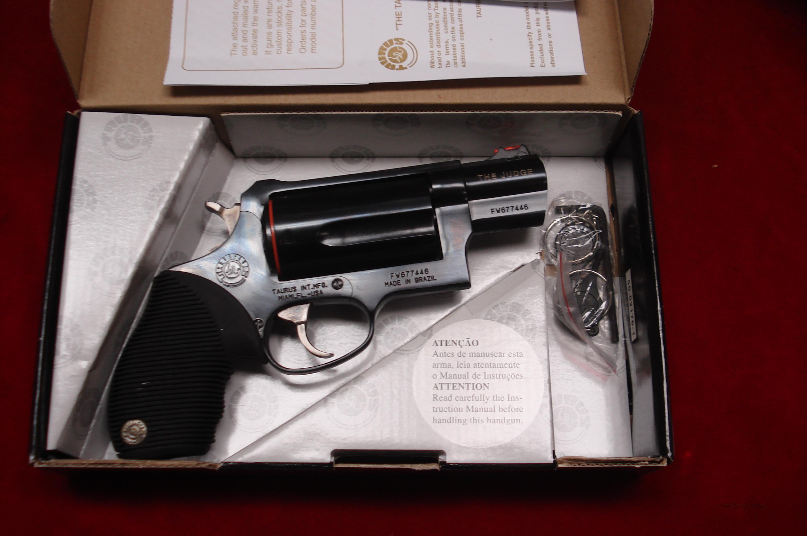 "TAURUS 410G REVOLVER ""THE JUDGE"" 2"" BARREL PUBLIC DEFENDER NEW  Guns > Pistols > Taurus Pistols/Revolvers > Revolvers"