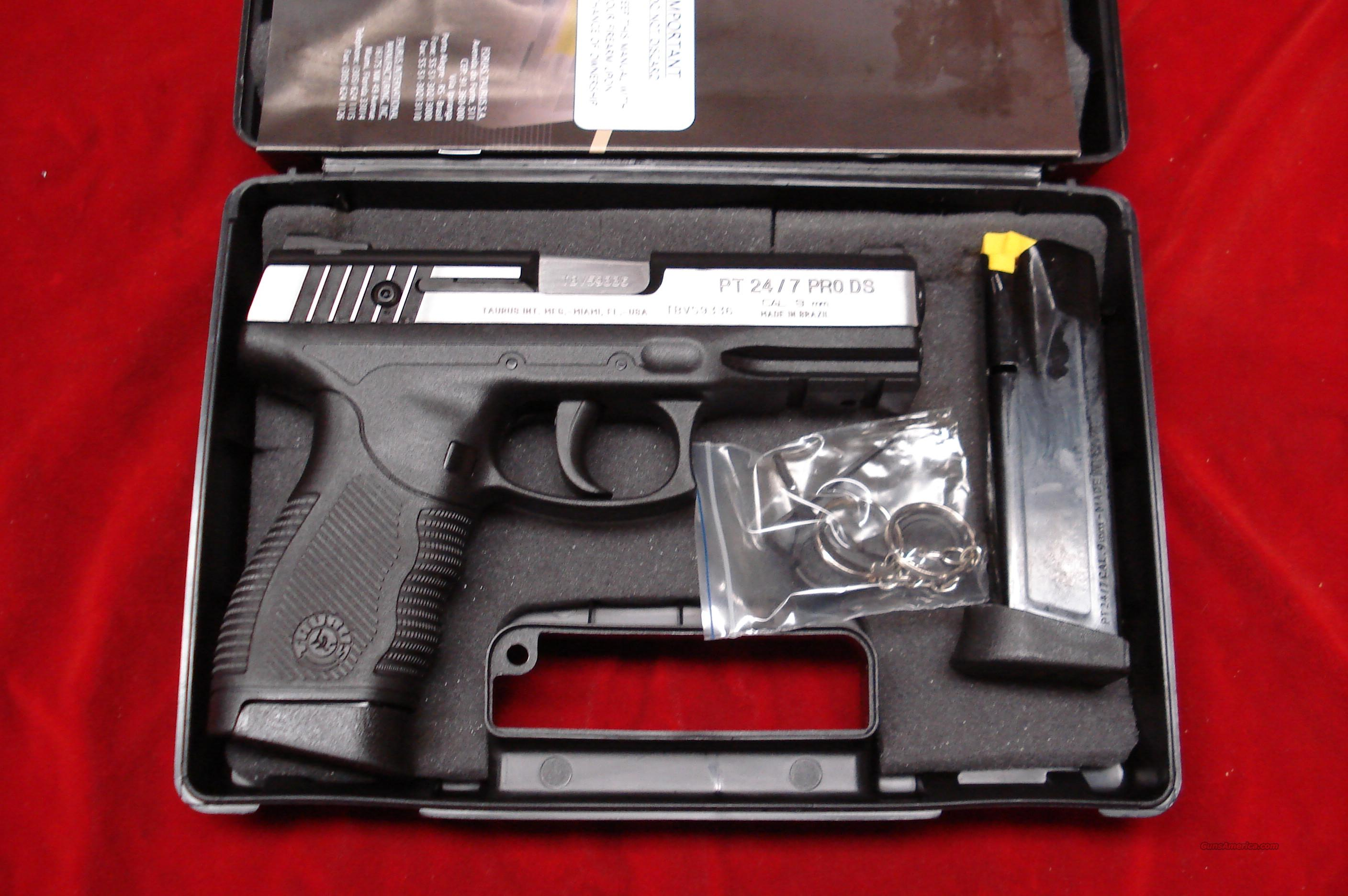 TAURUS PT24/7 PRO 9MM STAINLESS DUO-TONE NEW IN THE BOX  Guns > Pistols > Taurus Pistols/Revolvers > Pistols > Polymer Frame