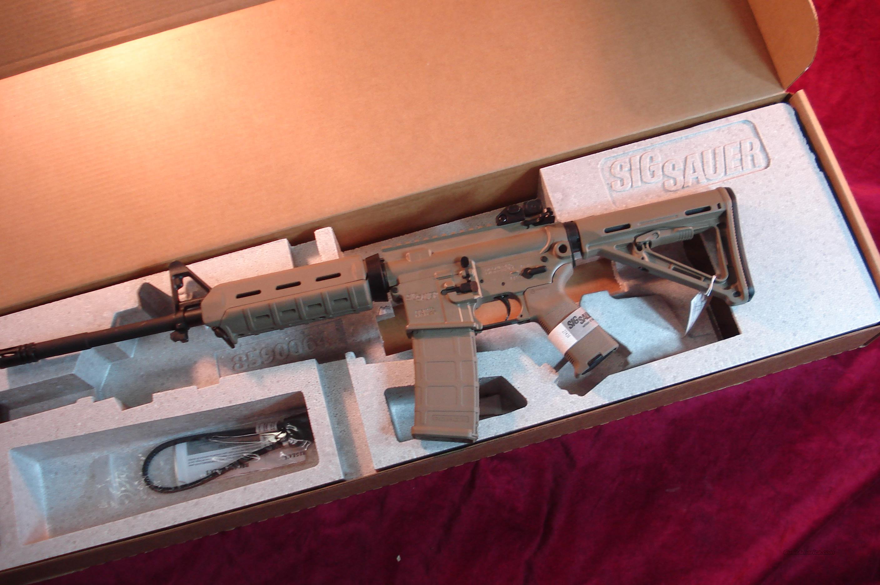 SIG SAUER M400 ENHANCED FLAT DARK EARTH AR-15 5.56/223 CAL NEW  Guns > Rifles > Sig - Sauer/Sigarms Rifles