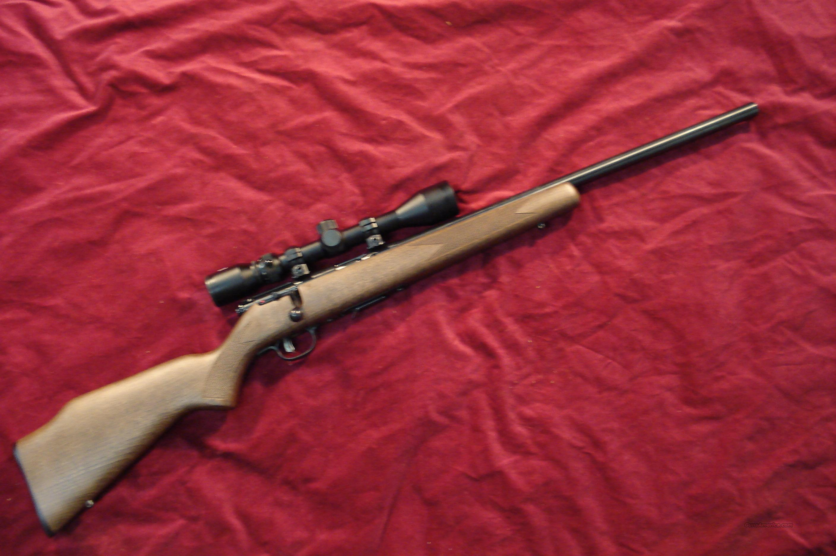 SAVAGE 17HMR ACCUTRIGGER HEAVY BARREL WOOD STOCK SCOPE PACKAGE NEW (93R17GVXP)  Guns > Rifles > Savage Rifles > Accutrigger Models > Sporting