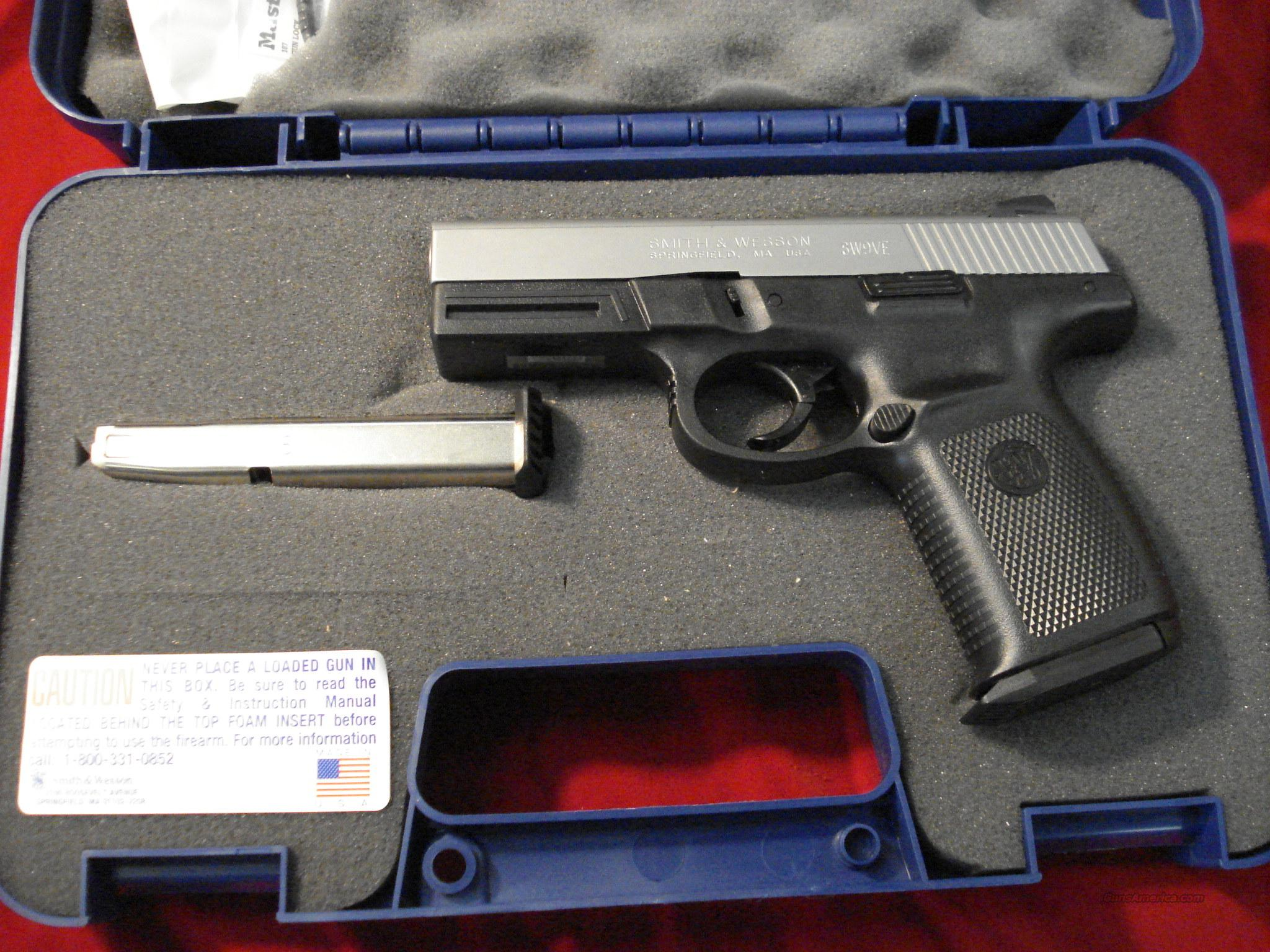 SMITH AND WESSON SIGMA STAINLESS 9MM HIGH CAP NEW    Guns > Pistols > Smith & Wesson Pistols - Autos > Polymer Frame