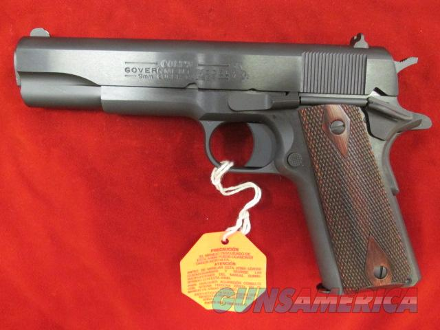 COLT GOVERNMENT MODEL 1911 9MM CAL BLUED NEW   Guns > Pistols > Colt Automatic Pistols (1911 & Var)