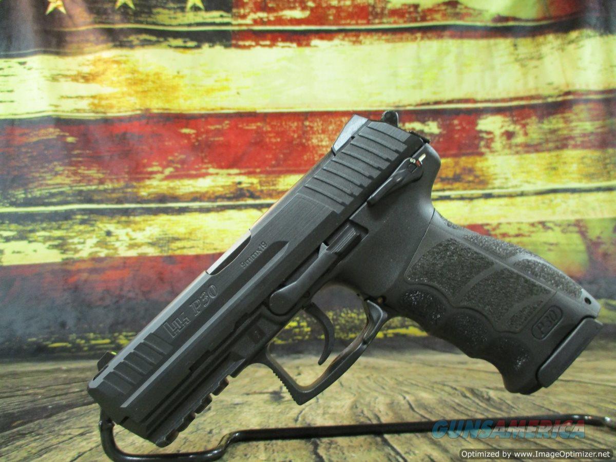 "HK P30S V3 9mm 3.85"" New 15+1 Round W/Safety (M730903S-A5)  Guns > Pistols > Heckler & Koch Pistols > Polymer Frame"
