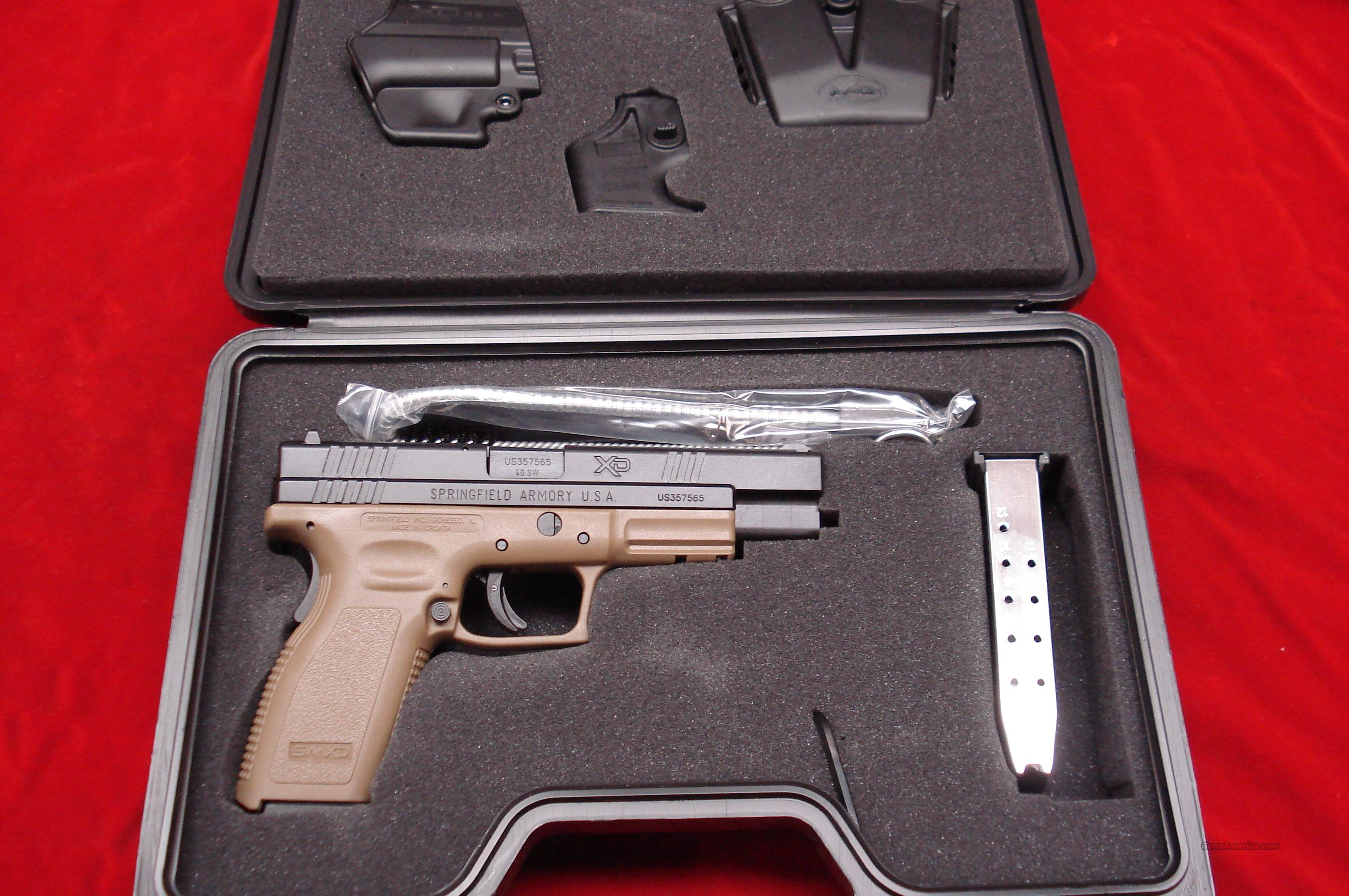 SPRINGFIELD ARMORY XD 40 DARK EARTH HIGH CAPACITY TACTICAL PACKAGE NEW  Guns > Pistols > Springfield Armory Pistols > XD (eXtreme Duty)