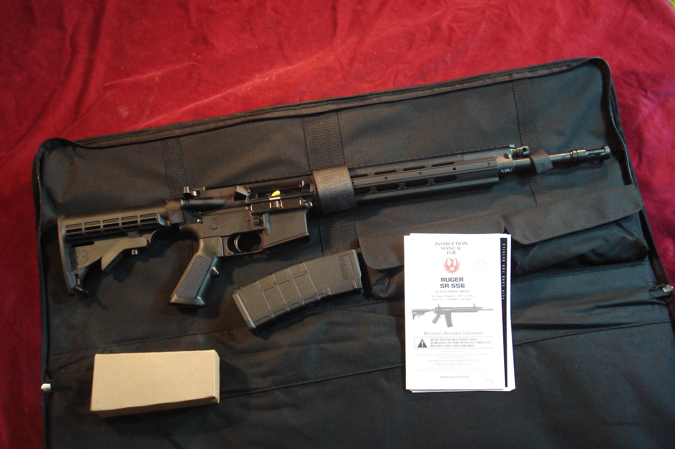 RUGER SR-556 GAS PISTON AR STYLE RIFLE NEW  Guns > Rifles > Ruger Rifles > SR-556