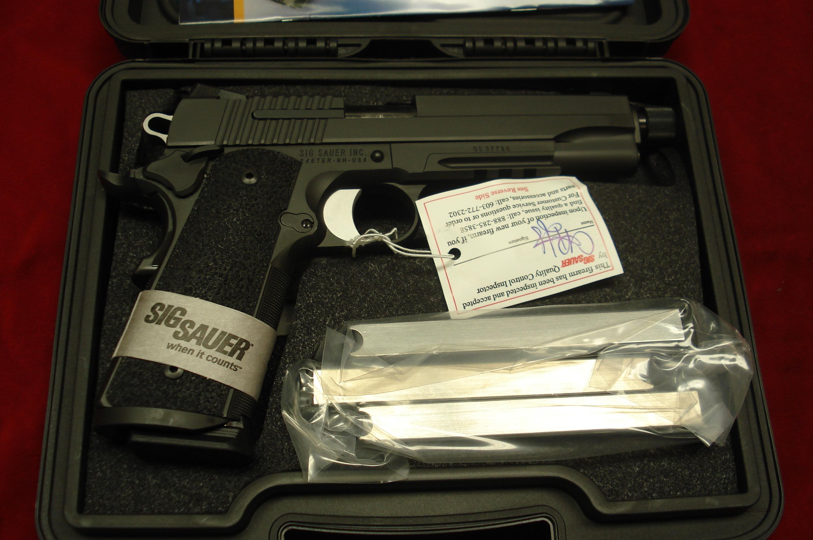 SIG SAUER 1911 TAC OPS 45ACP WITH THREADED BARREL AND 3 MAGAZINES  NEW  Guns > Pistols > Sig - Sauer/Sigarms Pistols > 1911
