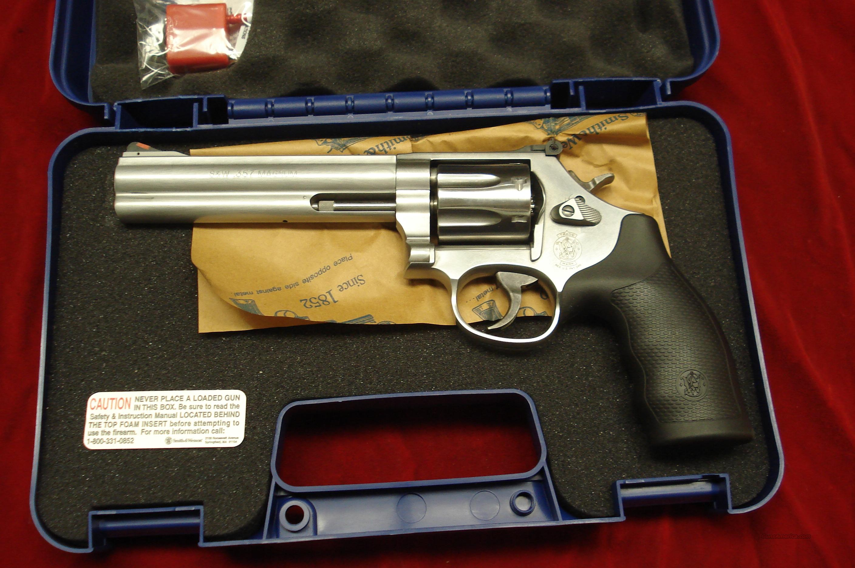 "SMITH AND WESSON MODEL 686 PLUS 6"" 357MAG STAINLESS NEW  Guns > Pistols > Smith & Wesson Revolvers > Full Frame Revolver"