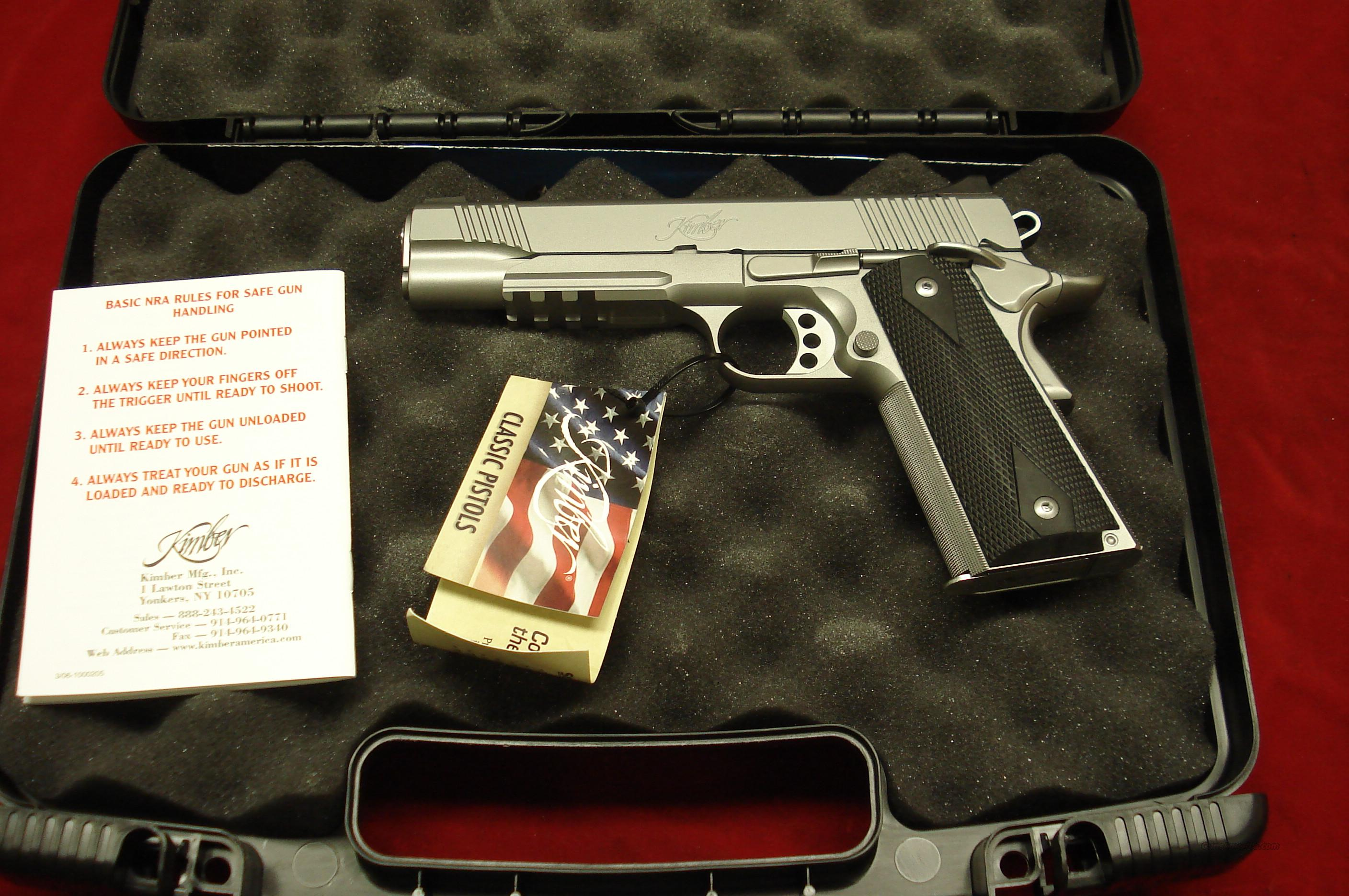 KIMBER CUSTOM STAINLESS TLE/RL II 45ACP NIGHT SIGHTS NEW   Guns > Pistols > Kimber of America Pistols