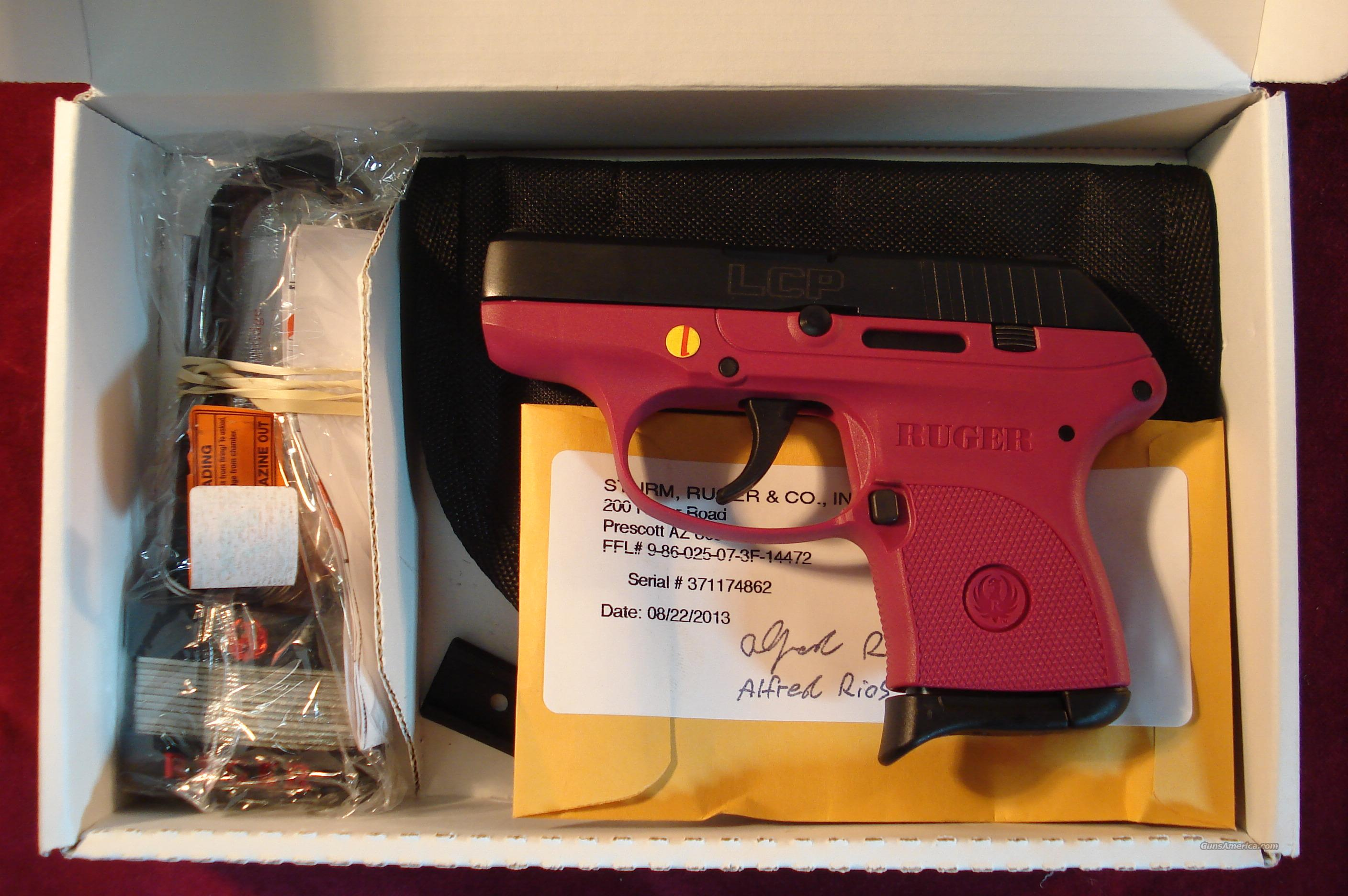 RUGER LCP 380 CAL RASPBERRY NEW  Guns > Pistols > Ruger Semi-Auto Pistols > LCP