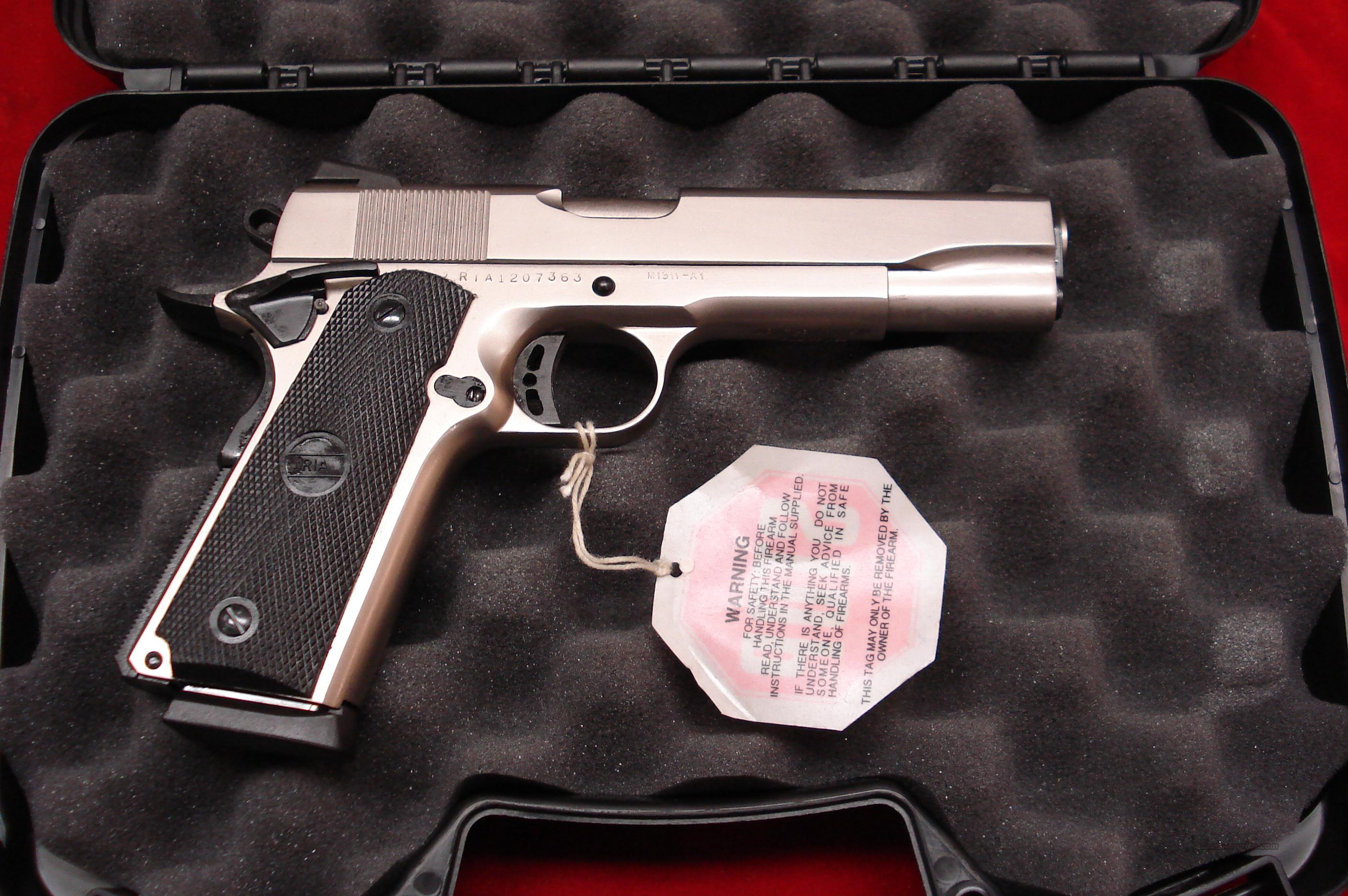 ROCK ISLAND ARMORY 1911-A1 FS TACTICAL MATTE NICKEL NEW  Guns > Pistols > 1911 Pistol Copies (non-Colt)