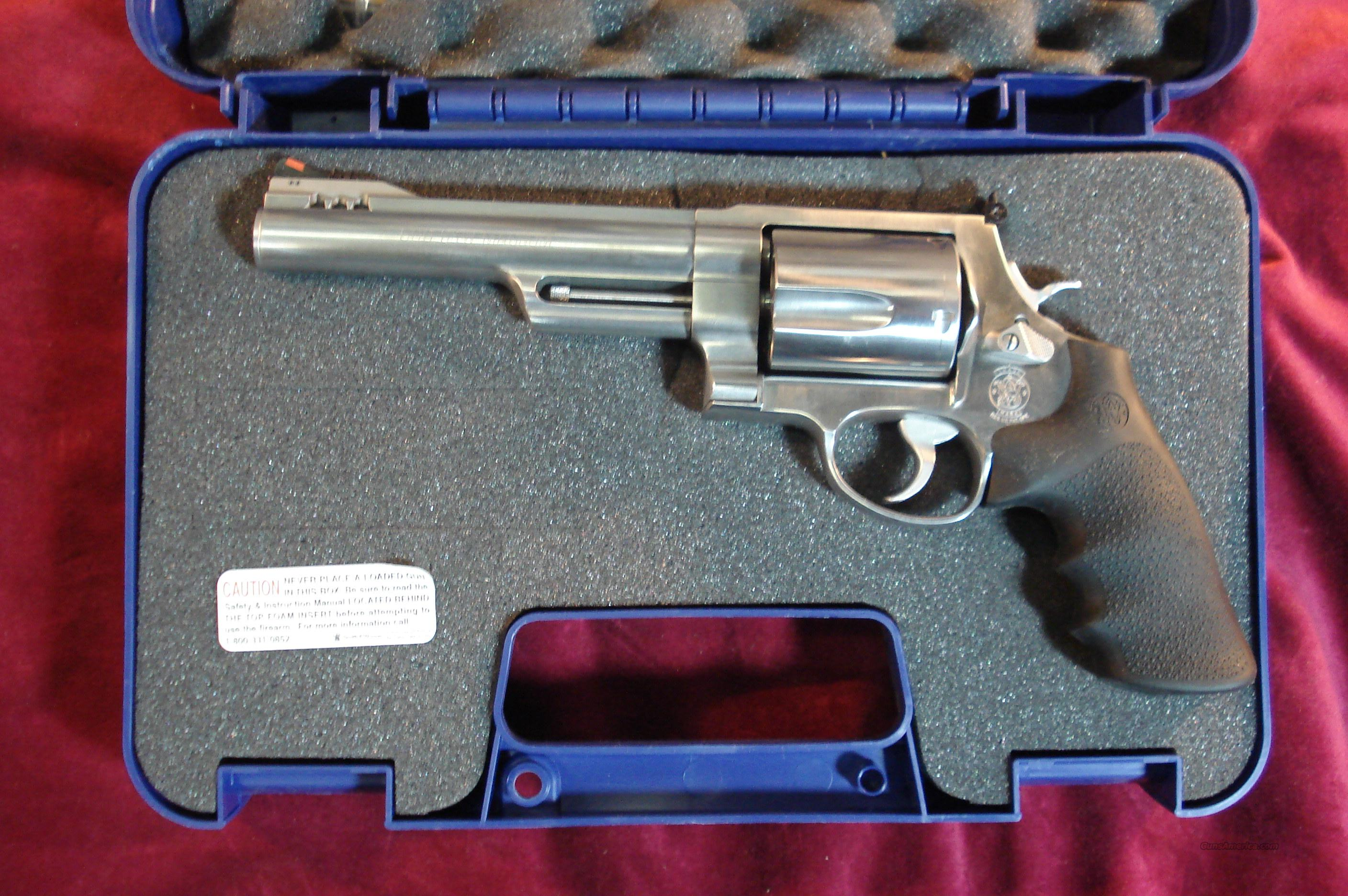 "SMITH AND WESSON 500 MAGNUM CAL 6.5"" HALF UNDERLUG STAINLESS NEW  Guns > Pistols > Smith & Wesson Revolvers > Full Frame Revolver"