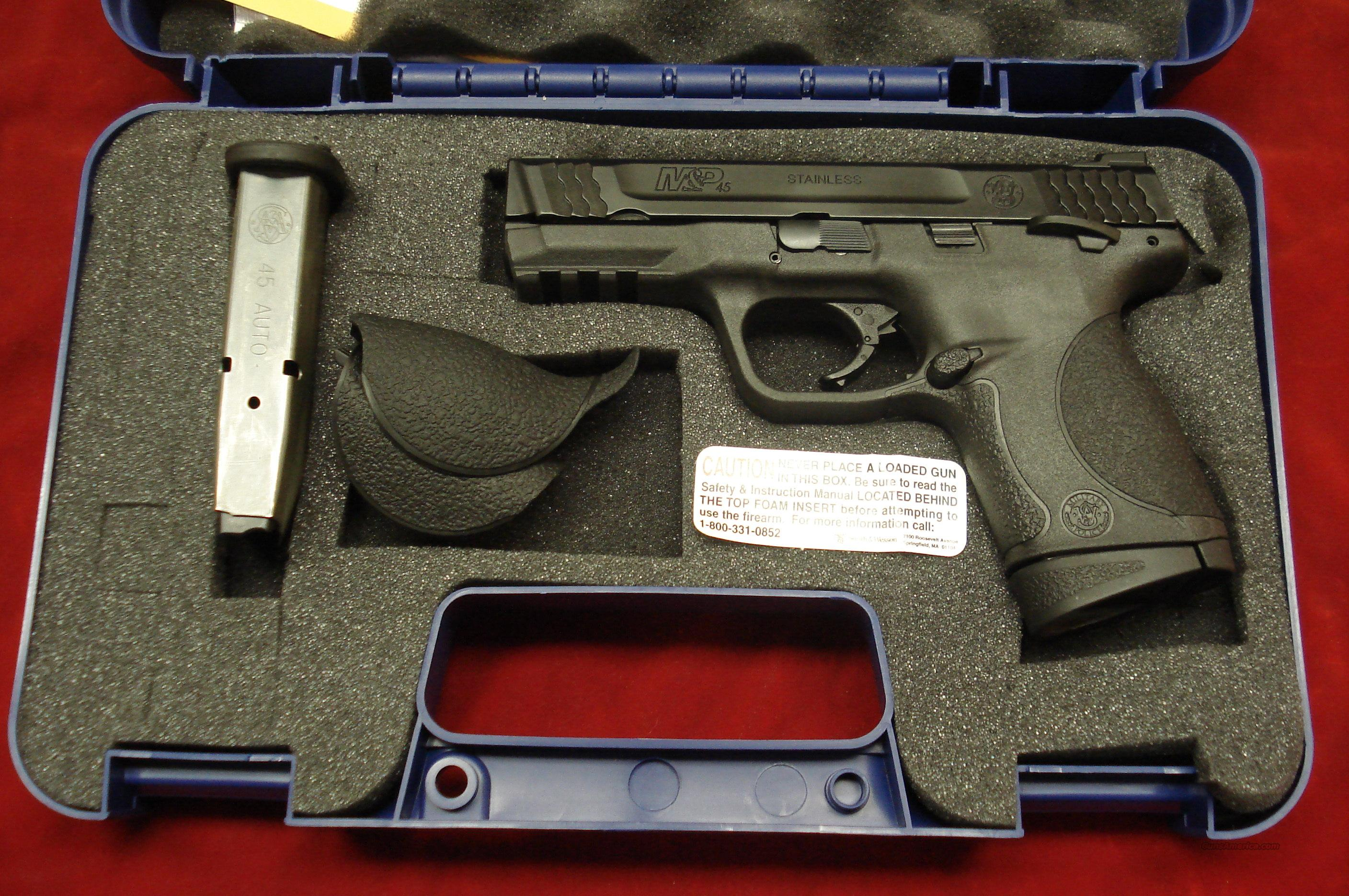 "SMITH AND WESSON M&P 45ACP 4"" W/THUMB SAFETY NEW   Guns > Pistols > Smith & Wesson Pistols - Autos > Polymer Frame"