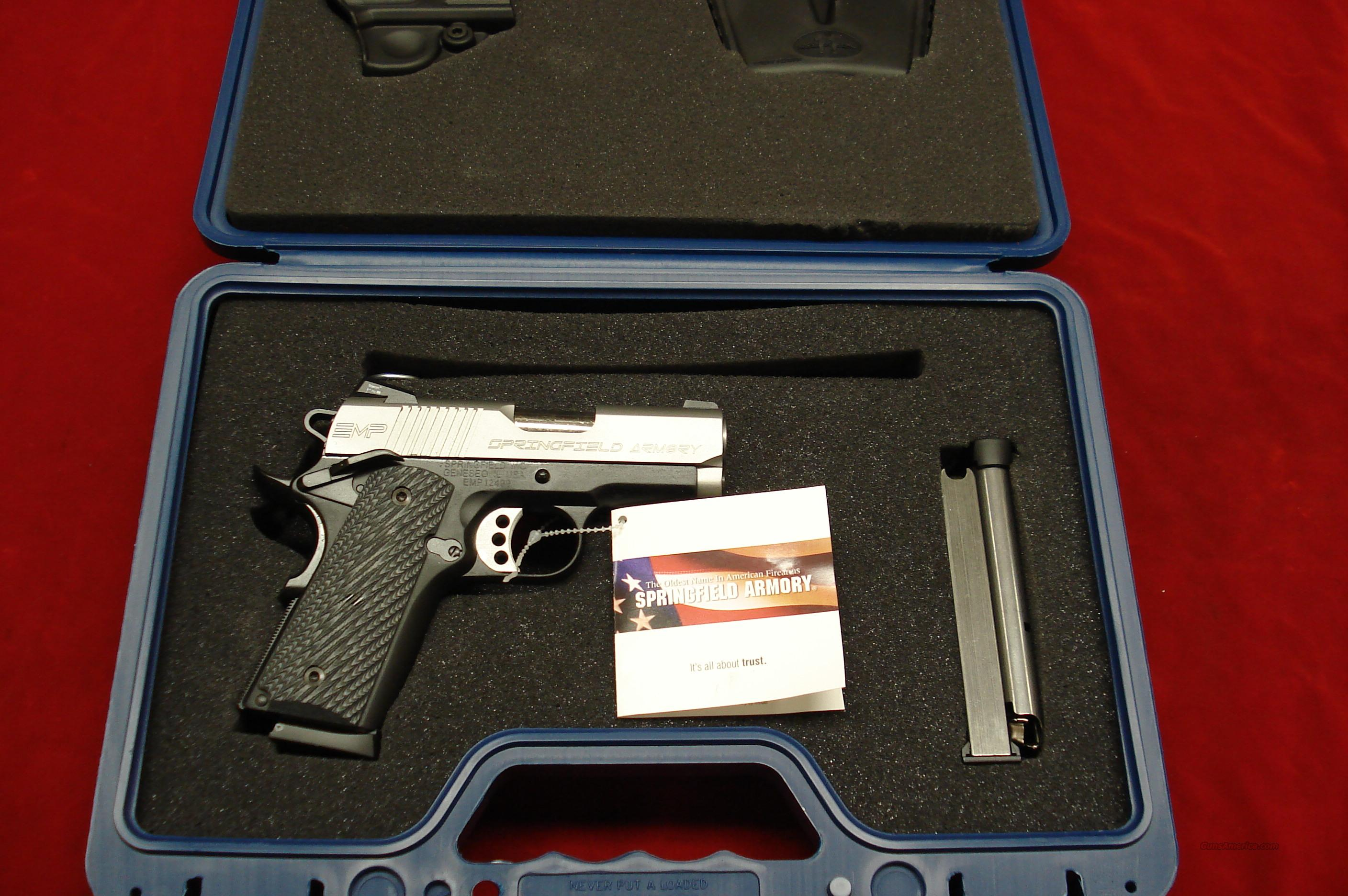 SPRINGFIELD ARMORY EMP MICRO-COMP. 9MM WITH G10 GRIPS (PI9210LP) NEW  Guns > Pistols > Springfield Armory Pistols > 1911 Type