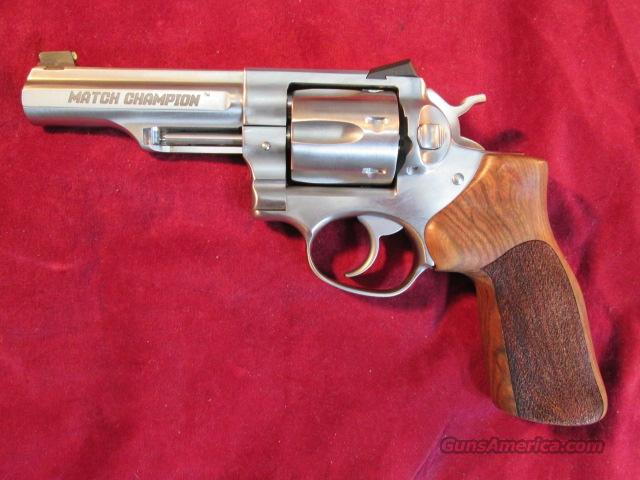 "RUGER GP100 MATCH CHAMPION 357MAG STAINLESS 4.2"" HARDWOOD GRIP NEW (KGP141MCF)  Guns > Pistols > Ruger Double Action Revolver > Security Six Type"
