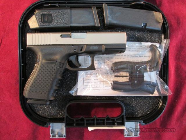GLOCK MODEL 23 GEN 4 .40 CAL NICKEL SLIDE NEW  Guns > Pistols > Glock Pistols > 23