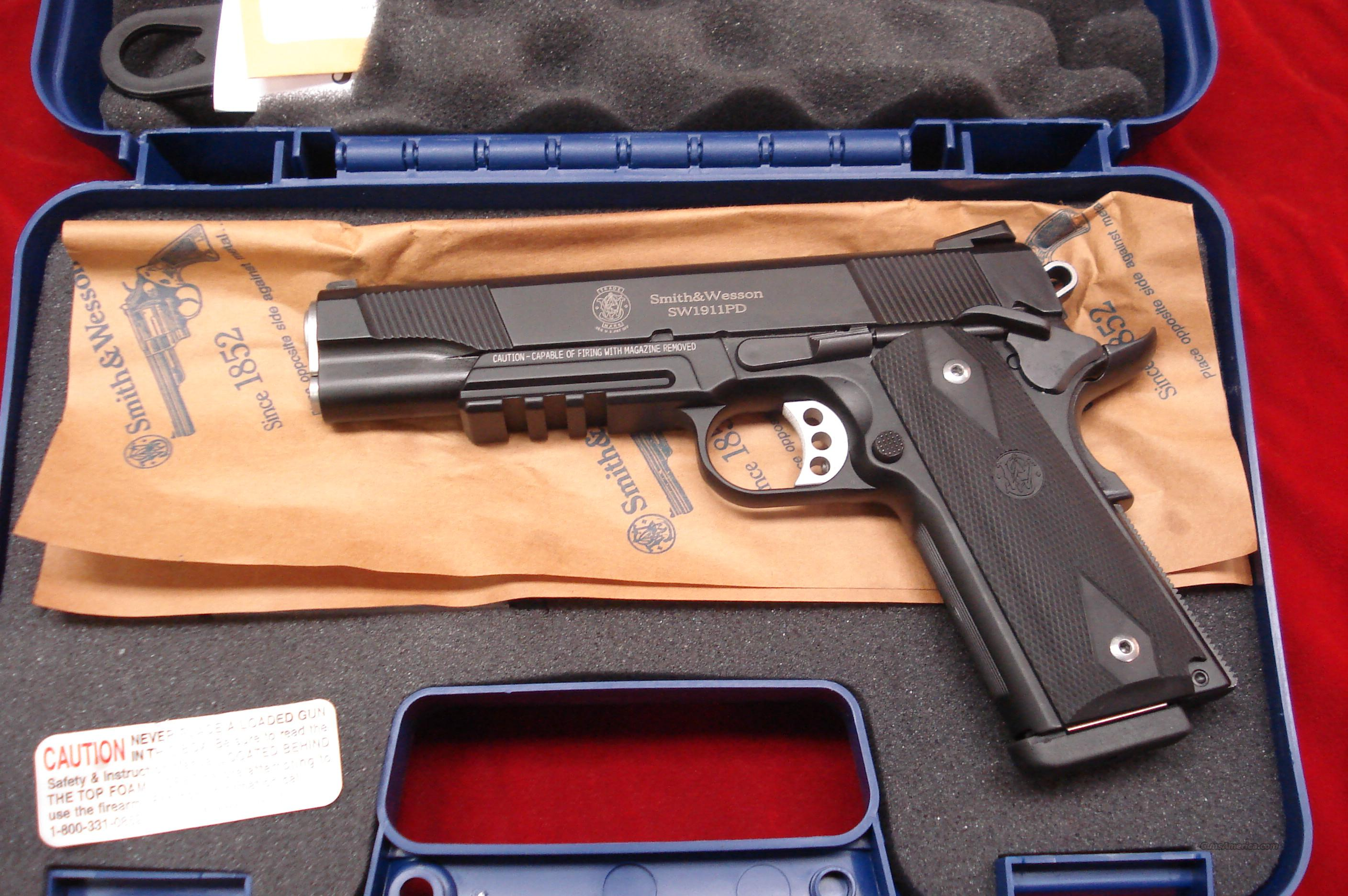 SMITH AND WESSON SW1911PD BLUE SCANDIUM 45ACP WITH TAC RAIL  NEW   Guns > Pistols > Smith & Wesson Pistols - Autos > Steel Frame