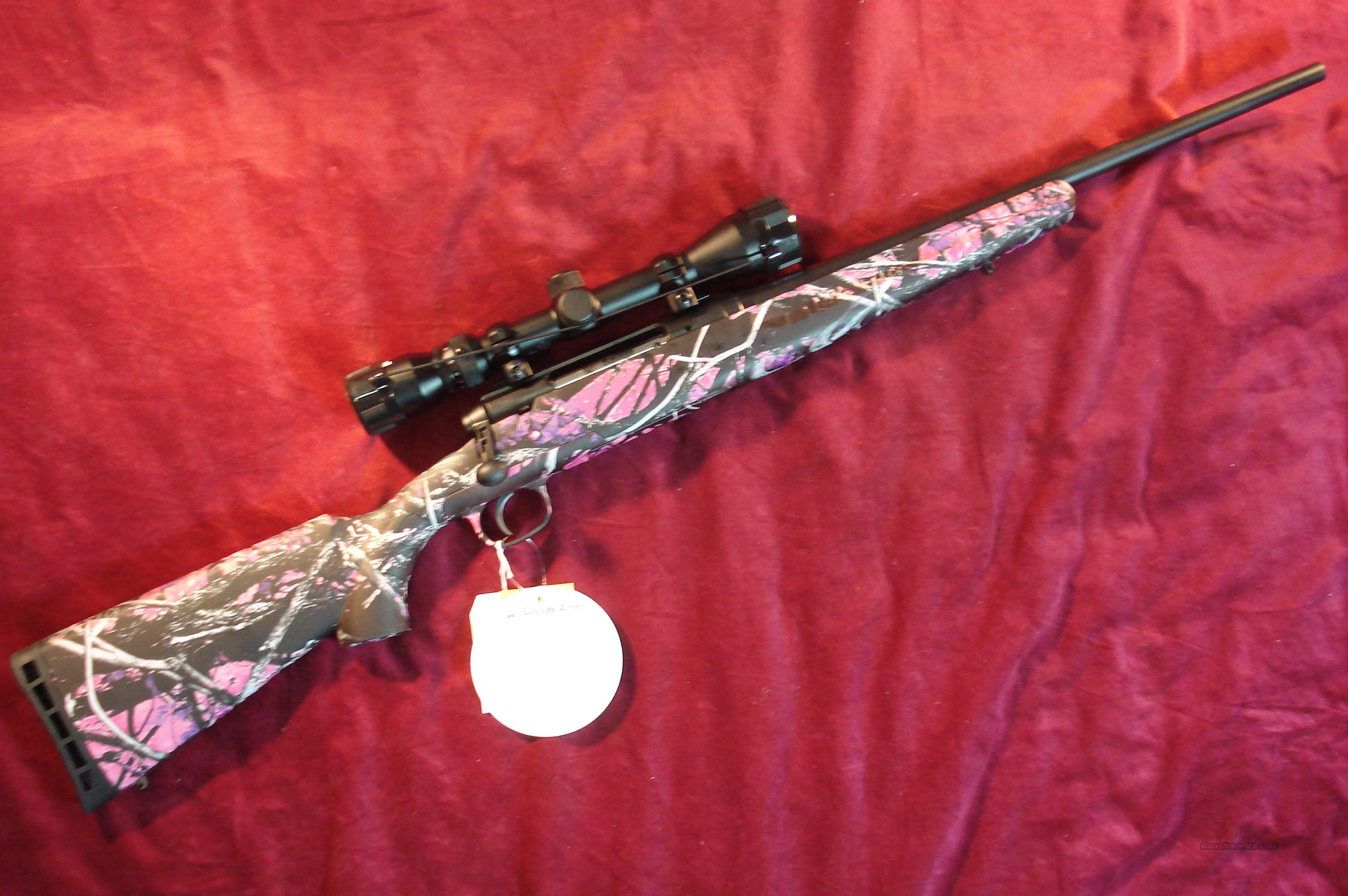 SAVAGE AXIS XP 243 CAL MUDDY GIRL CAMO W/SCOPE NEW  Guns > Rifles > Savage Rifles > Standard Bolt Action > Sporting