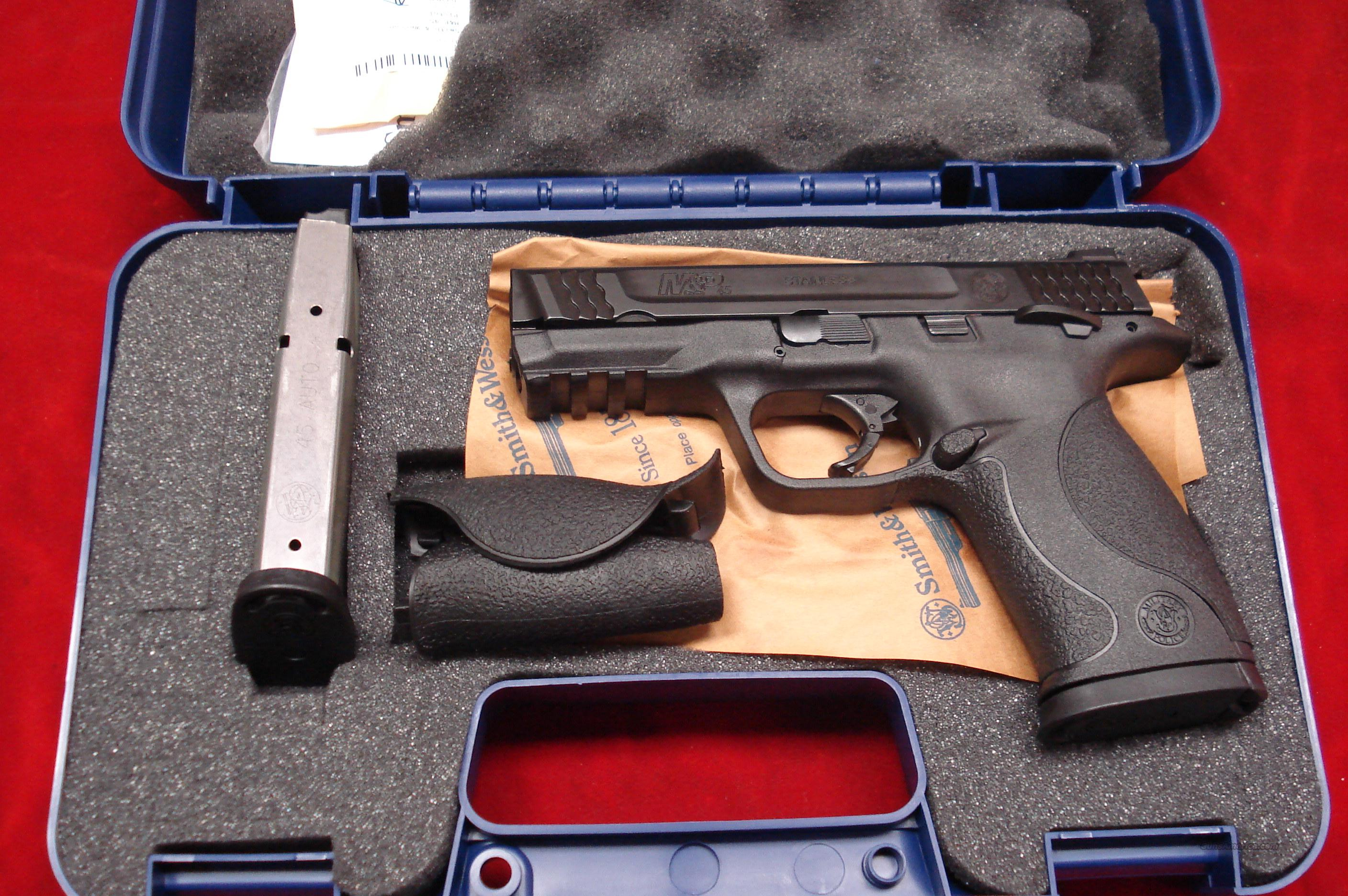 "SMITH AND WESSON M&P 45ACP 4"" W/THUMB SAFETY LNIB  Guns > Pistols > Smith & Wesson Pistols - Autos > Polymer Frame"