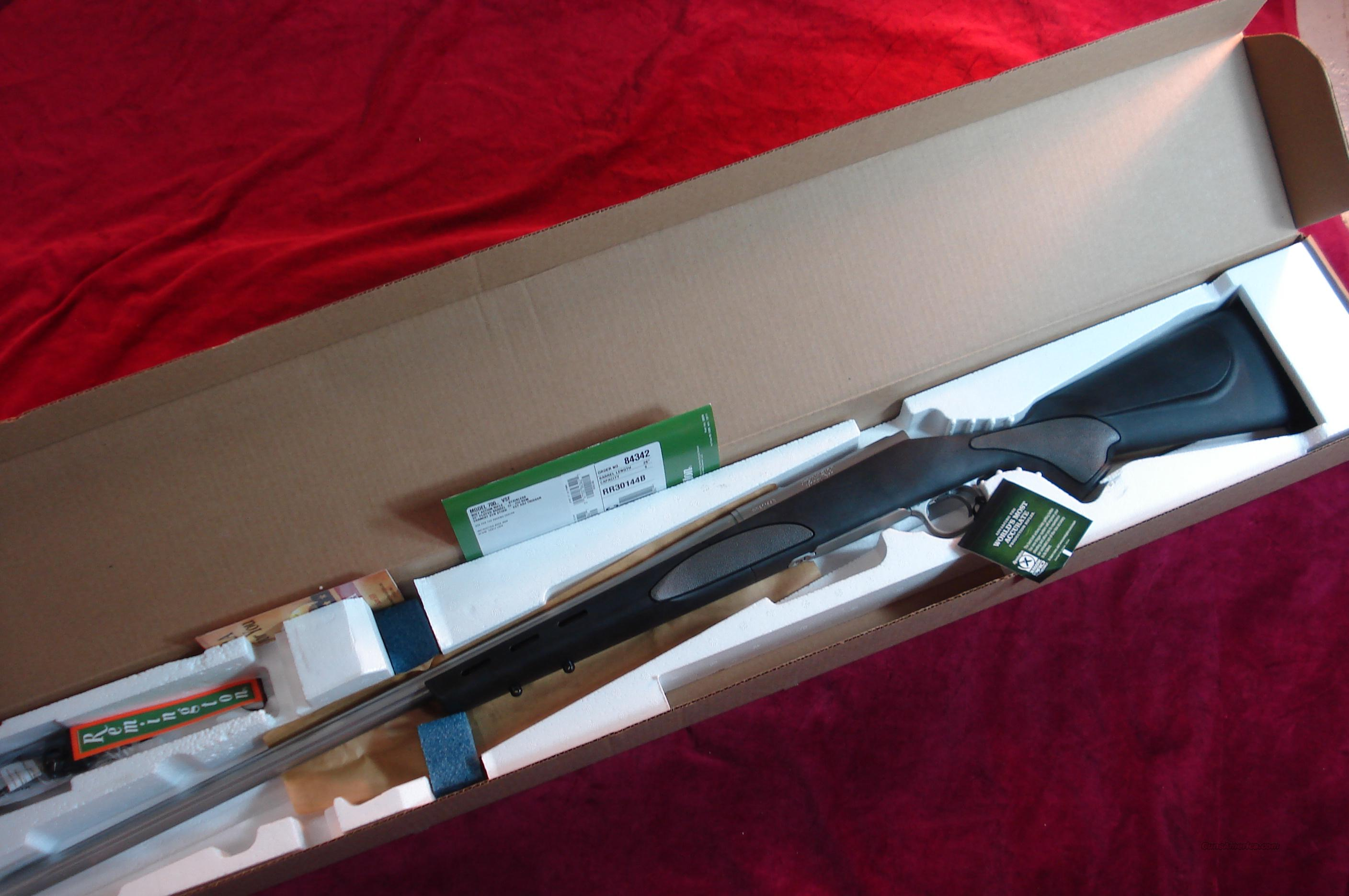 REMINGTON 700 VAR SF 22-250CAL. STAINLESS FLUTED SYNTHETIC NEW  Guns > Rifles > Remington Rifles - Modern > Model 700 > Sporting