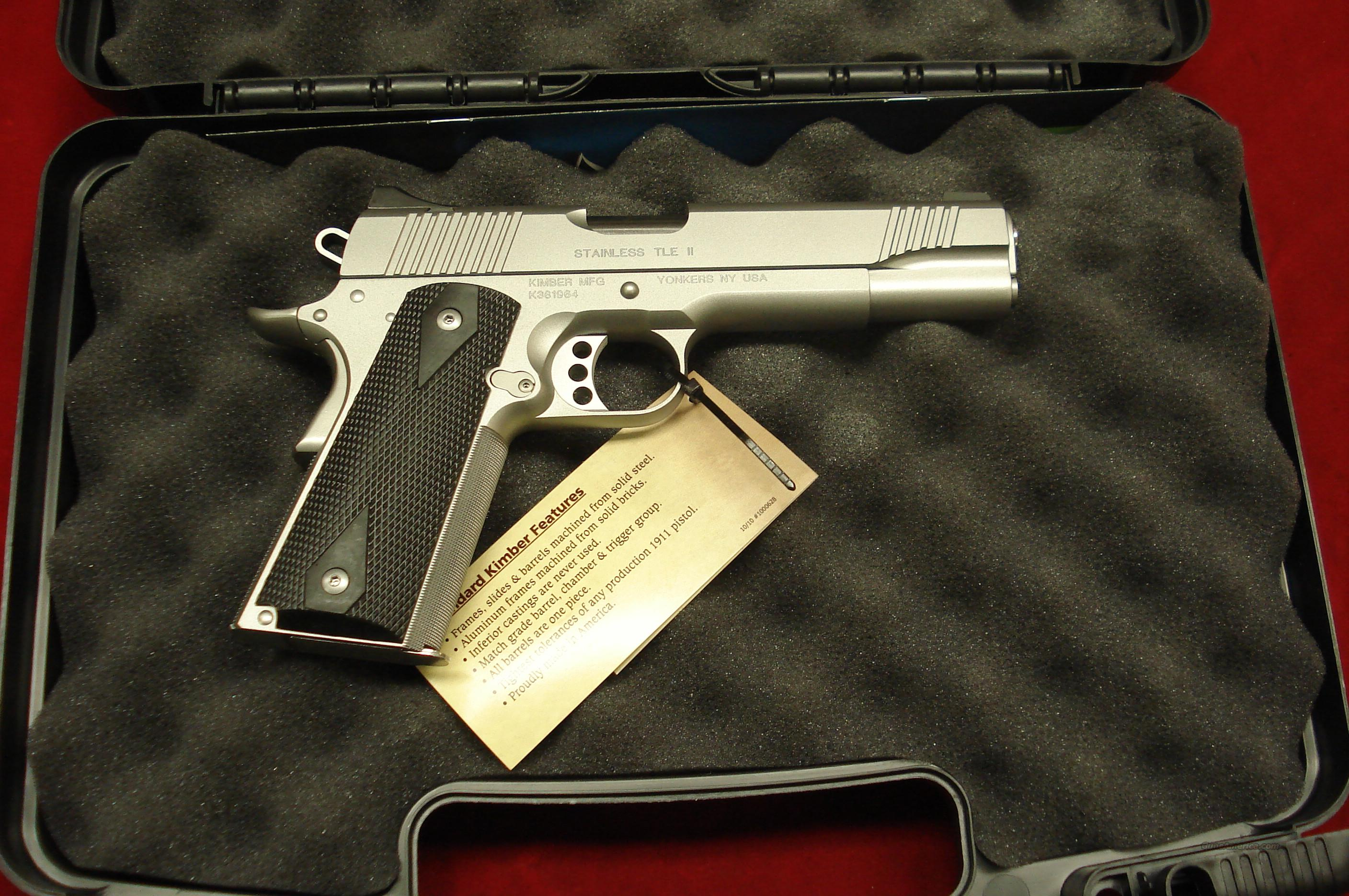 KIMBER STAINLESS TLE II 45ACP NIGHT SIGHTS NEW   Guns > Pistols > Kimber of America Pistols