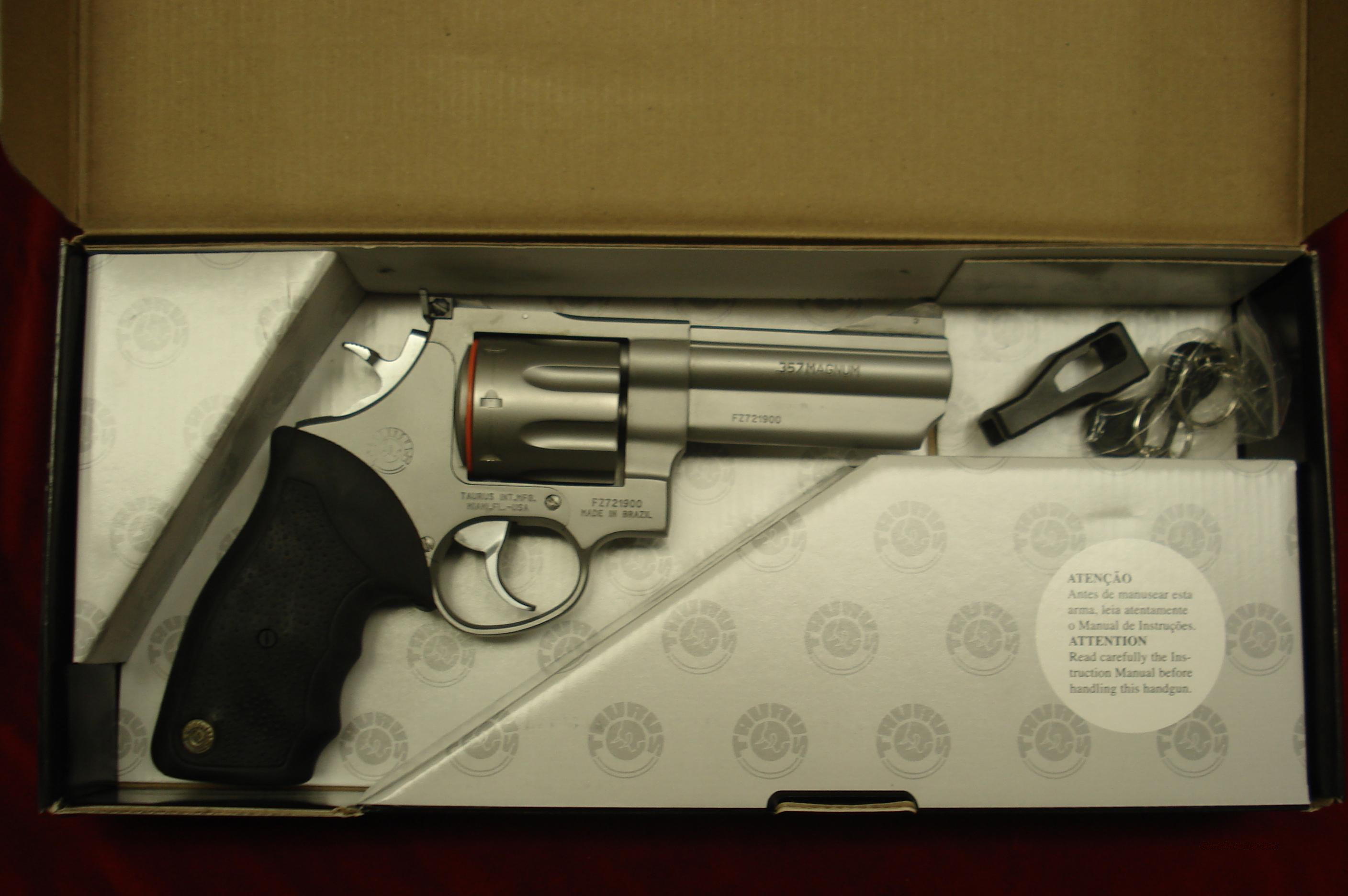 "TAURUS MODEL 608CP STAINLESS PORTED 4"" 357MAG. NEW   Guns > Pistols > Taurus Pistols/Revolvers > Revolvers"