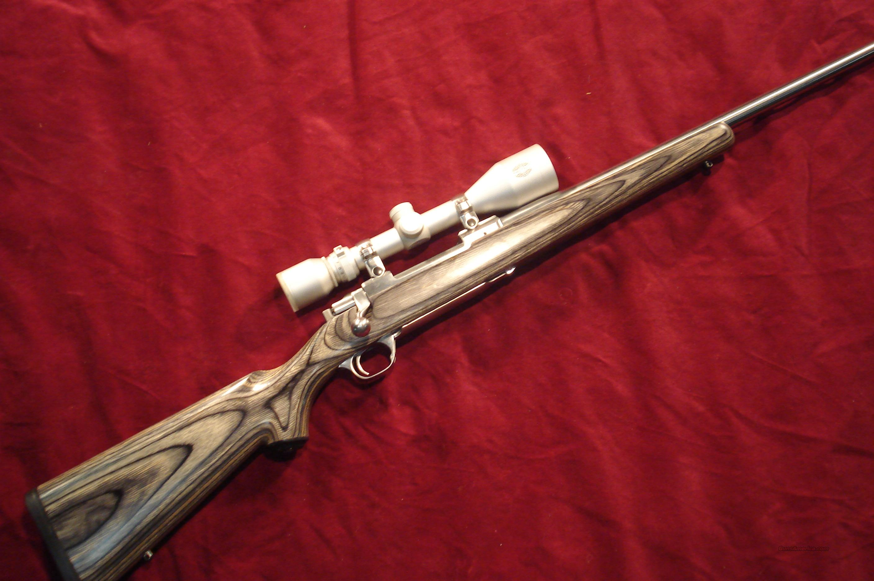 RUGER M77 MKII STAINLESS LAMINATE 3OOWIN MAG W/SCOPE USED  Guns > Rifles > Ruger Rifles > Model 77