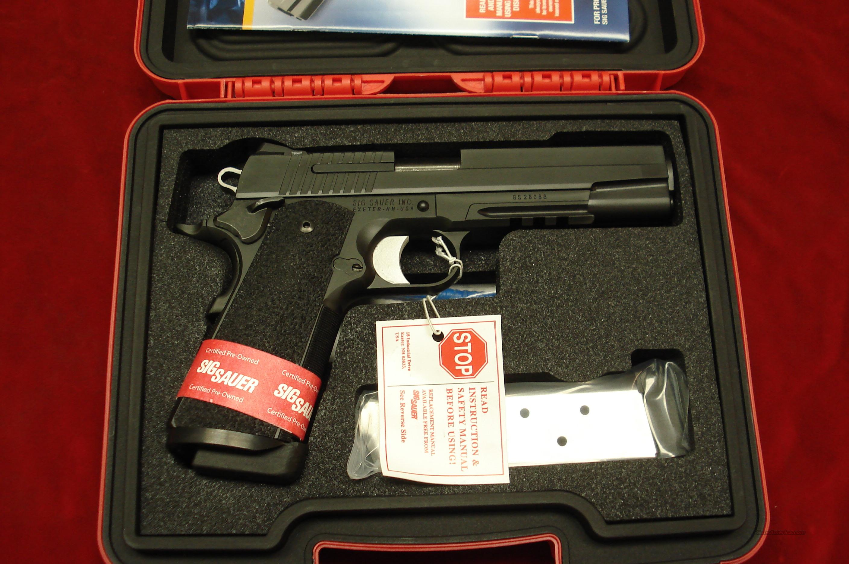 SIG SAUER 1911 WITH TAC RAIL AND NIGHT SIGHTS CERTIFIED PREOWNED    Guns > Pistols > Sig - Sauer/Sigarms Pistols > 1911