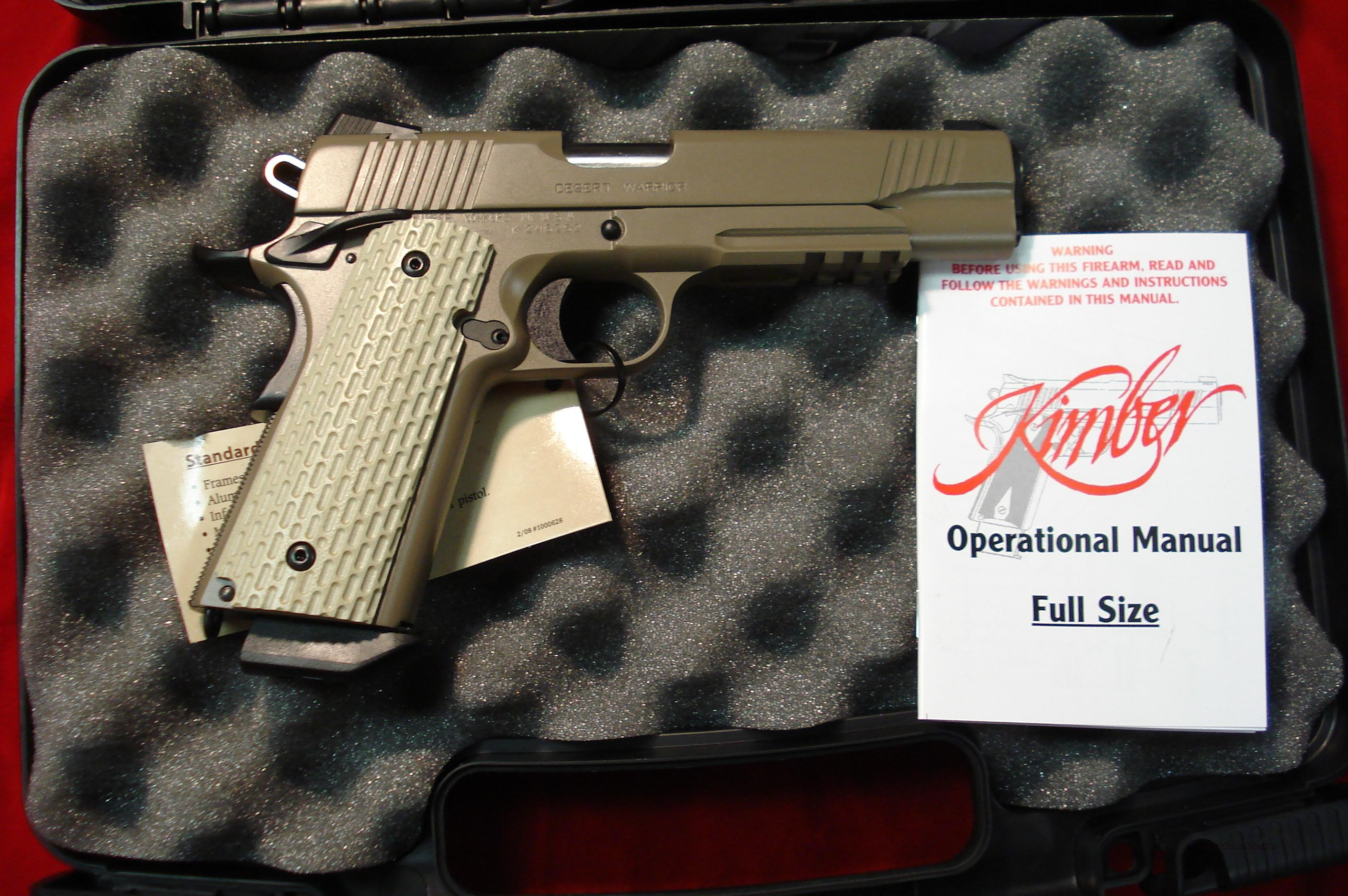 KIMBER  DESERT WARRIOR 45ACP NEW  Guns > Pistols > Kimber of America Pistols