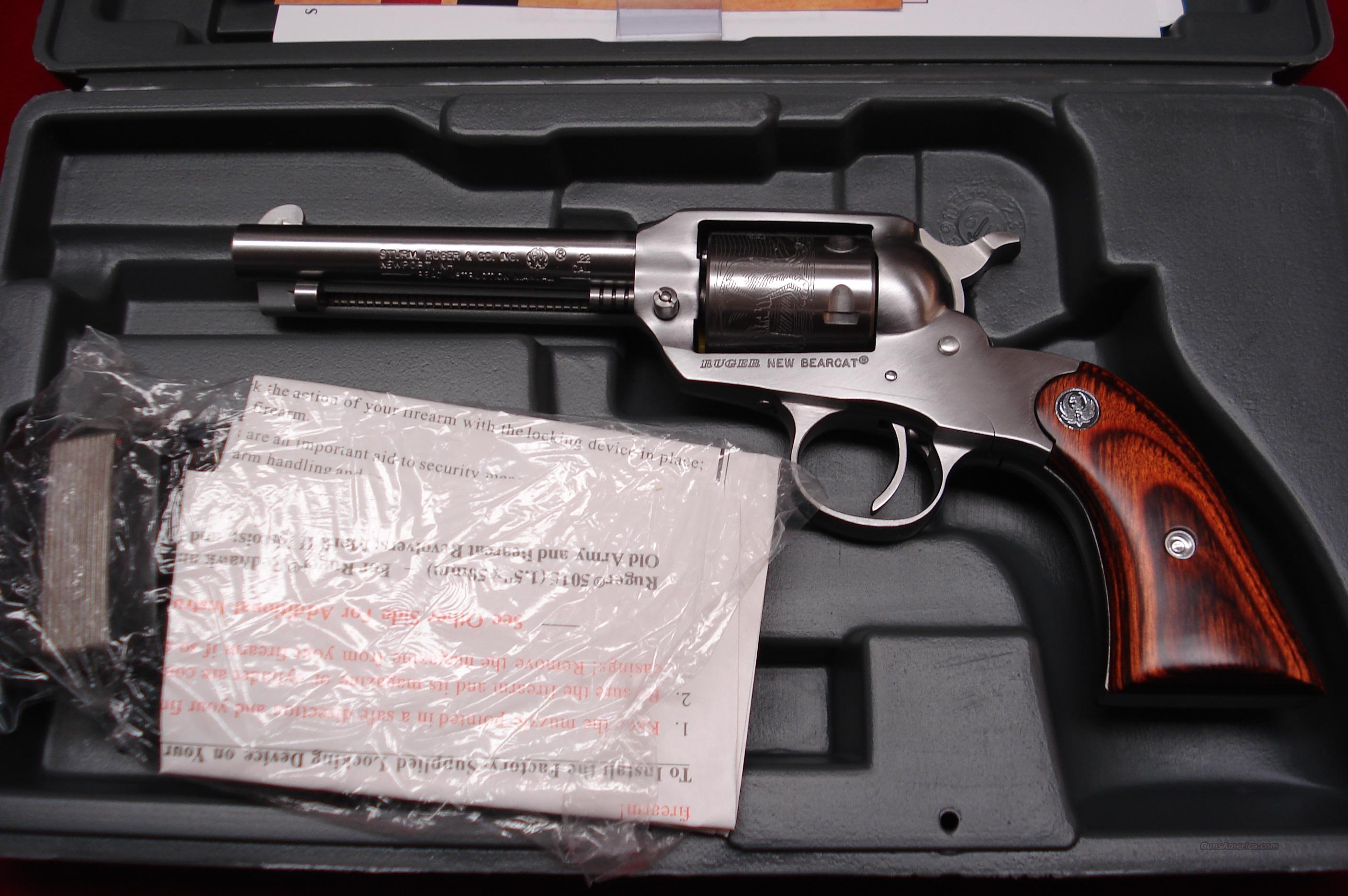 RUGER BEARCAT STAINLESS 22CAL. NEW (KSBC-4)  Guns > Pistols > Ruger Single Action Revolvers > Single Six Type