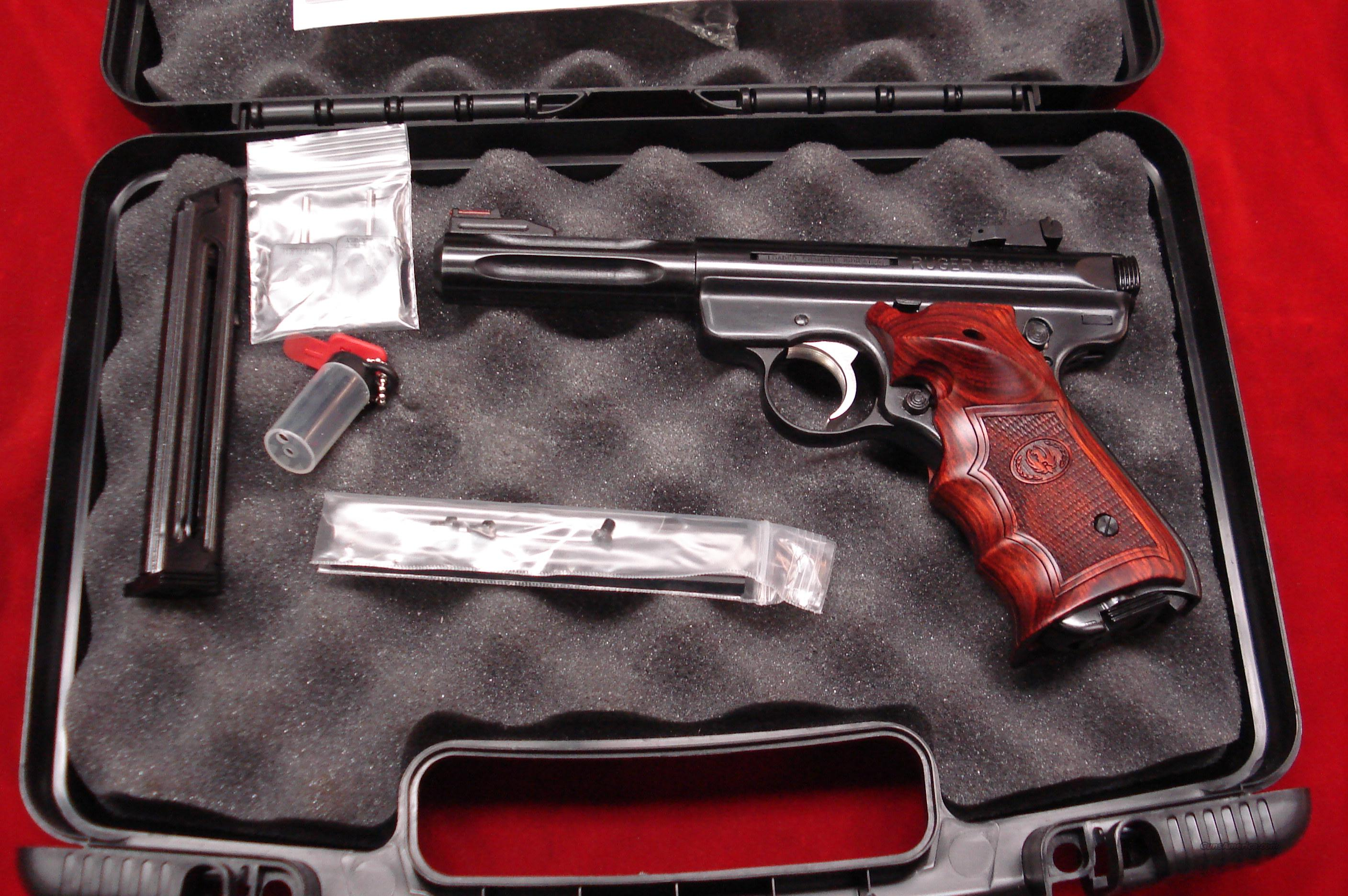 "RUGER TALO MKIII HUNTER 4.5"" BLUE FLUTED NEW (MKIII45H-TA)  Guns > Pistols > Ruger Semi-Auto Pistols > Mark I & II Family"