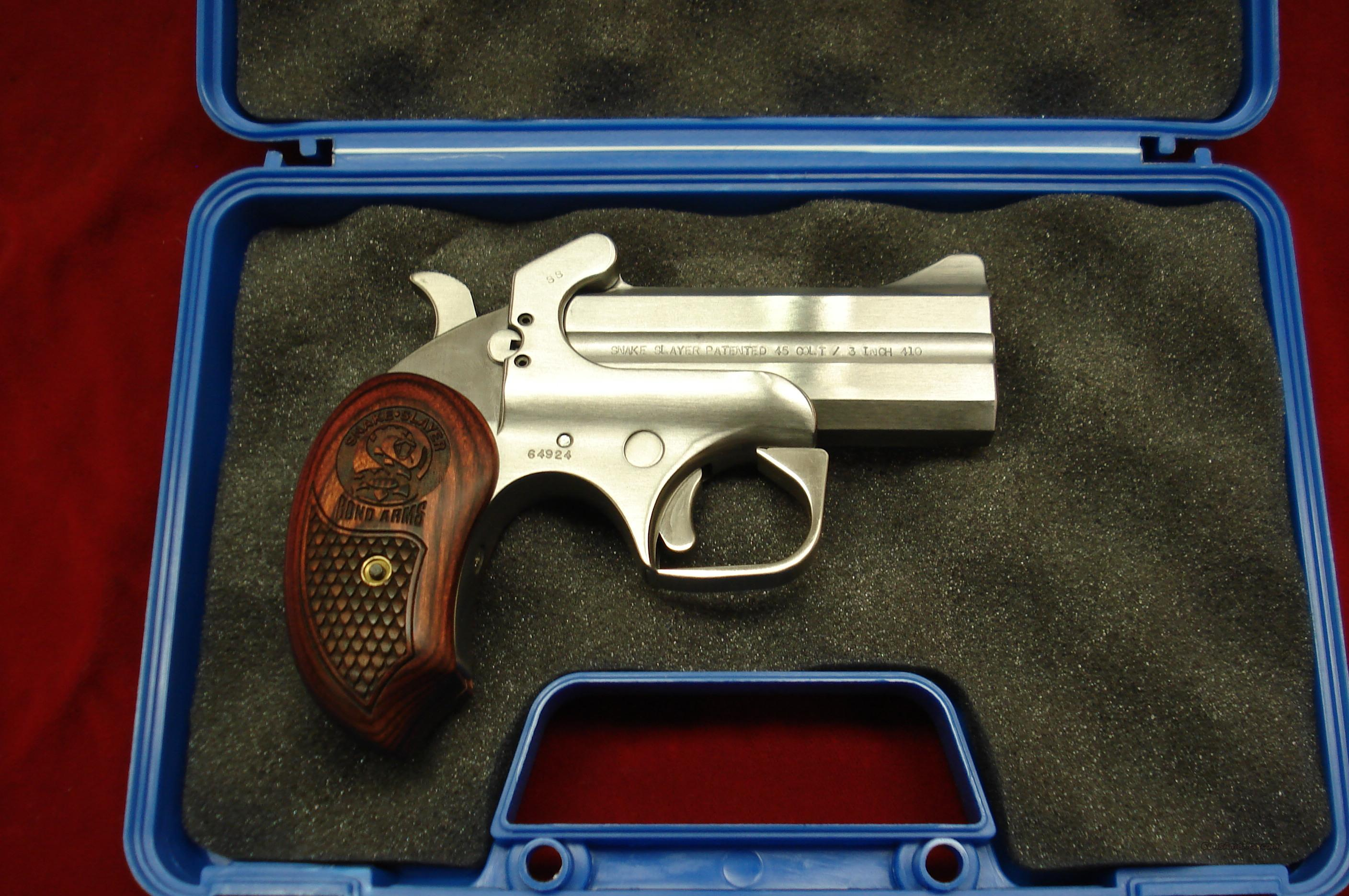 BOND ARMS SNAKE SLAYER 410G/45COLT STAINLESS DERRINGER NEW  Guns > Pistols > Bond Derringers