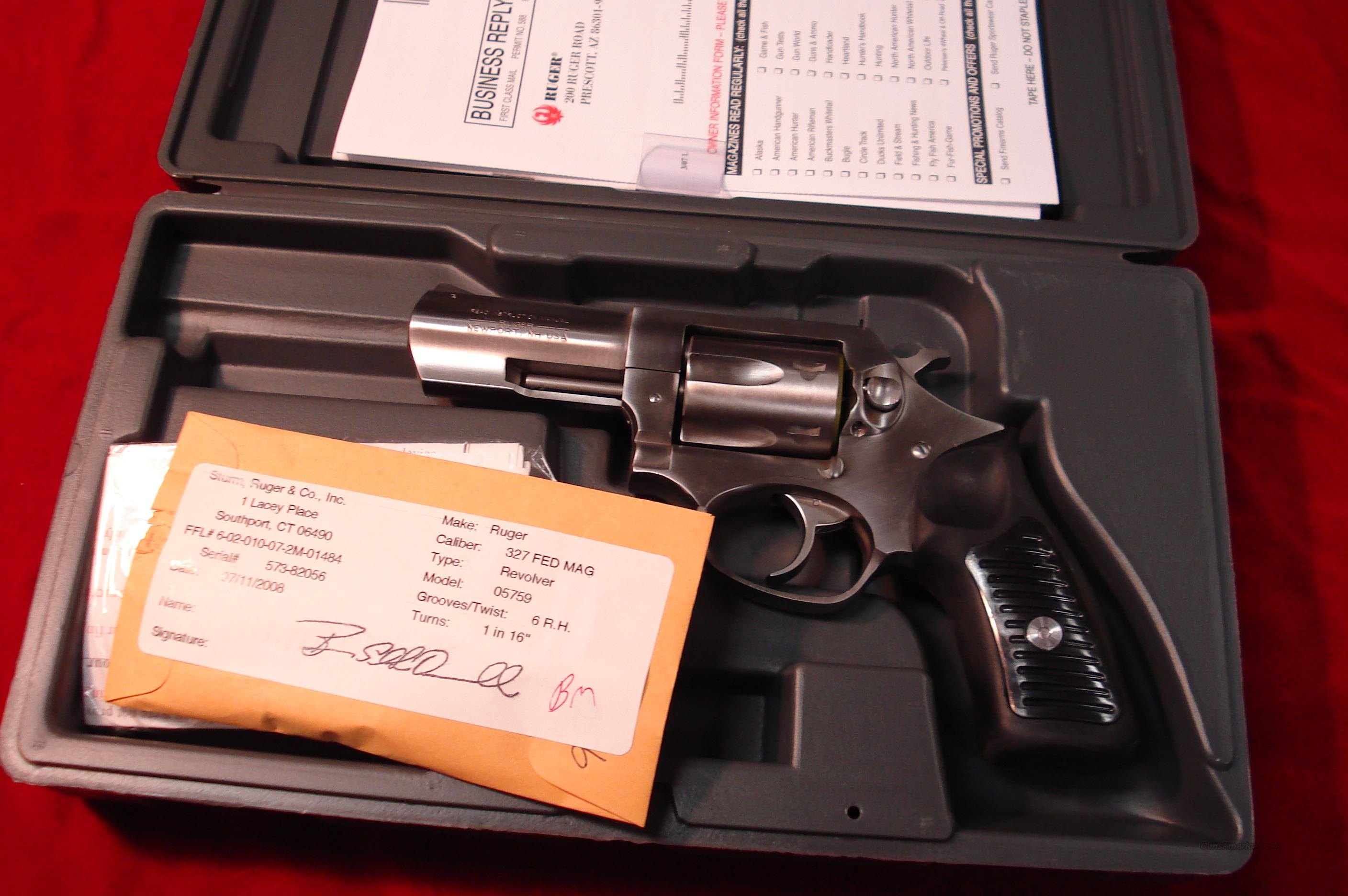 "RUGER SP101 .327 FEDERAL MAG. CAL. 3 1/16"" NEW   (KSP-32731X)  Guns > Pistols > Ruger Double Action Revolver > SP101 Type"