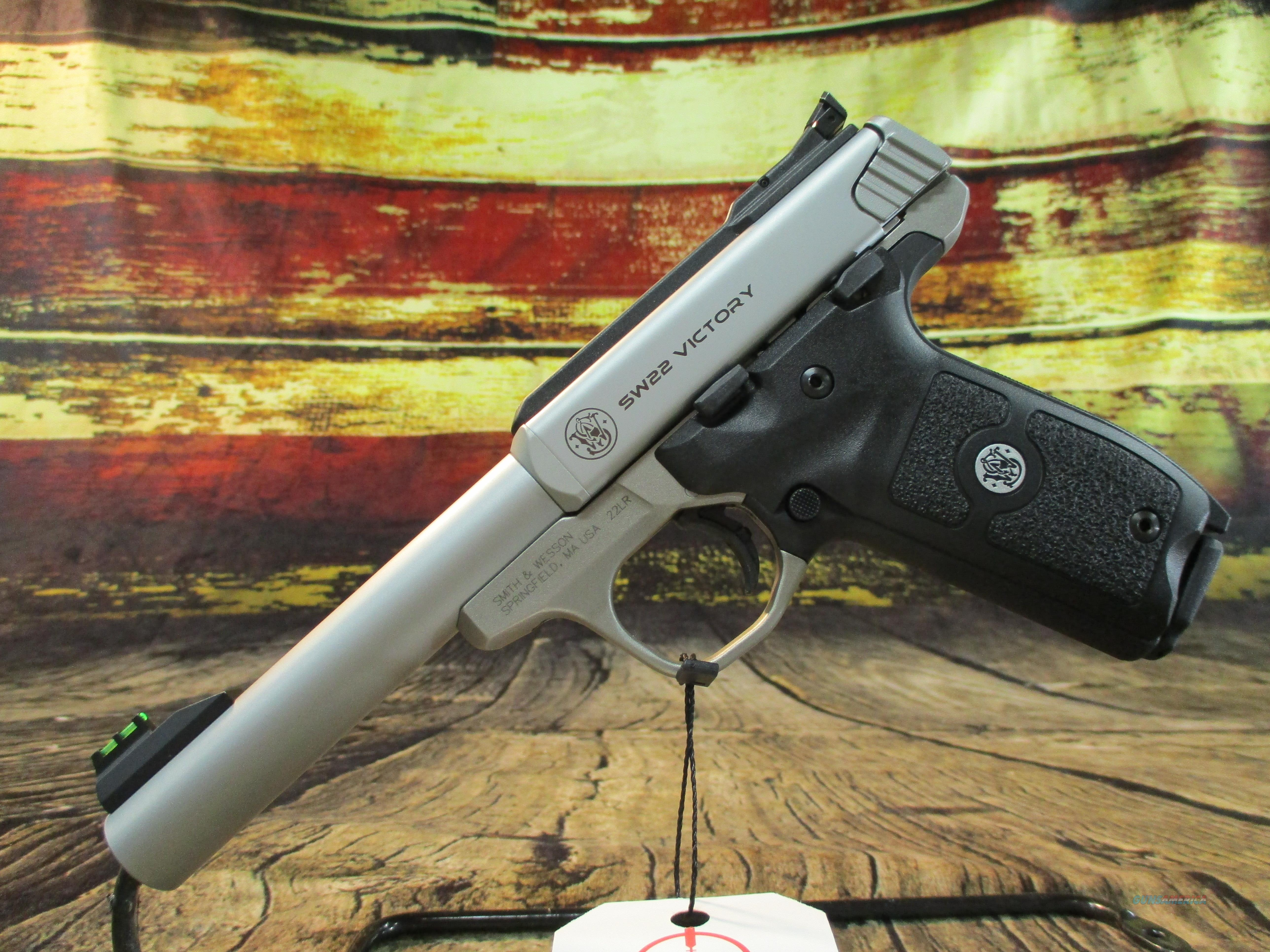 "Smith & Wesson 22 LR Victory Stainless 5.5"" (108490)  Guns > Pistols > Smith & Wesson Pistols - Autos > .22 Autos"