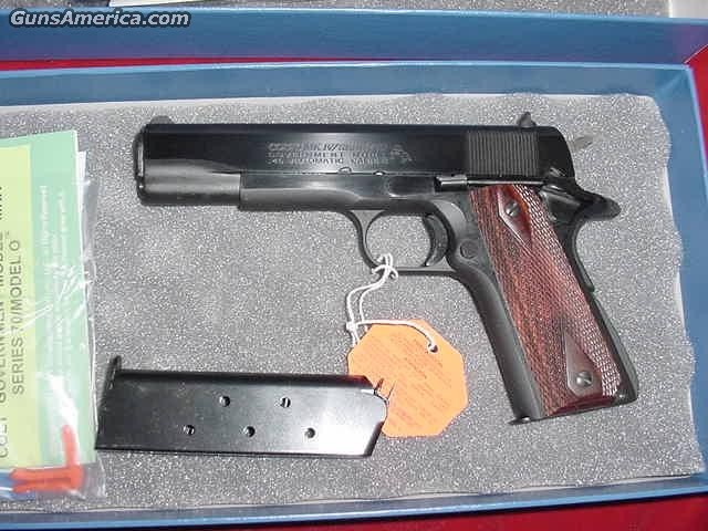 COLT GOV'T MODEL BLUED 45ACP SERIES 70 NEW  Guns > Pistols > Colt Automatic Pistols (1911 & Var)