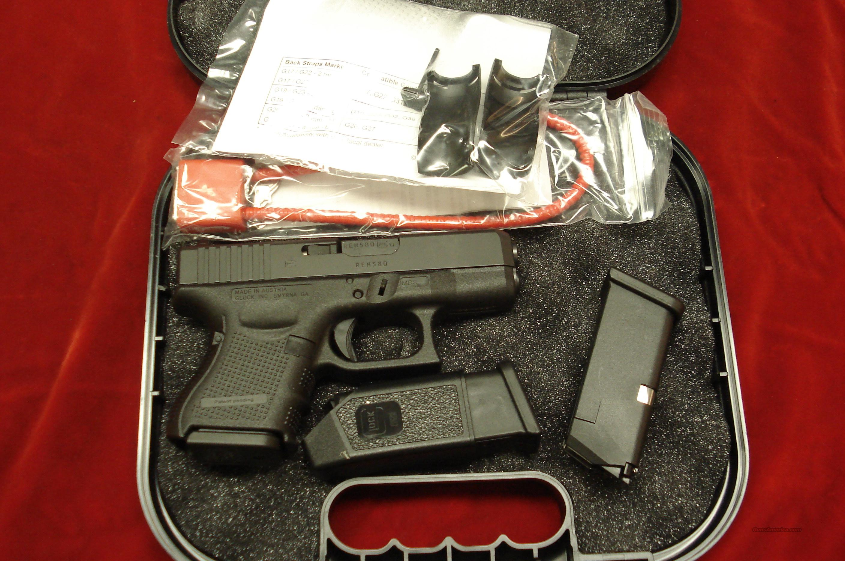GLOCK MODEL 26 GENERATION 4 .9MM CAL. WITH 3 MAGAZINES NEW   Guns > Pistols > Glock Pistols > 26/27