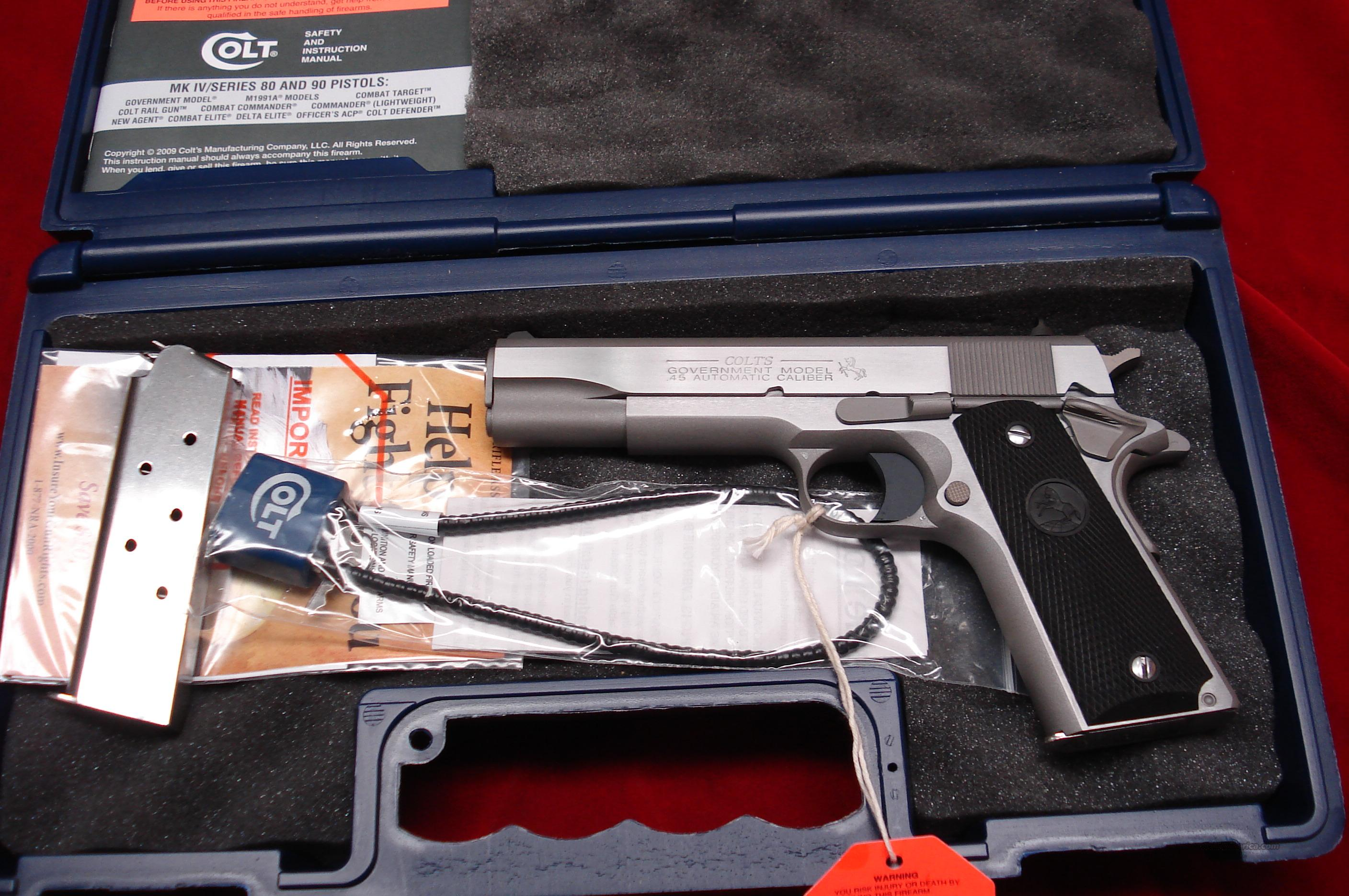 COLT GOVERNMENT MODEL STAINLESS 45ACP NEW  Guns > Pistols > Colt Automatic Pistols (1911 & Var)