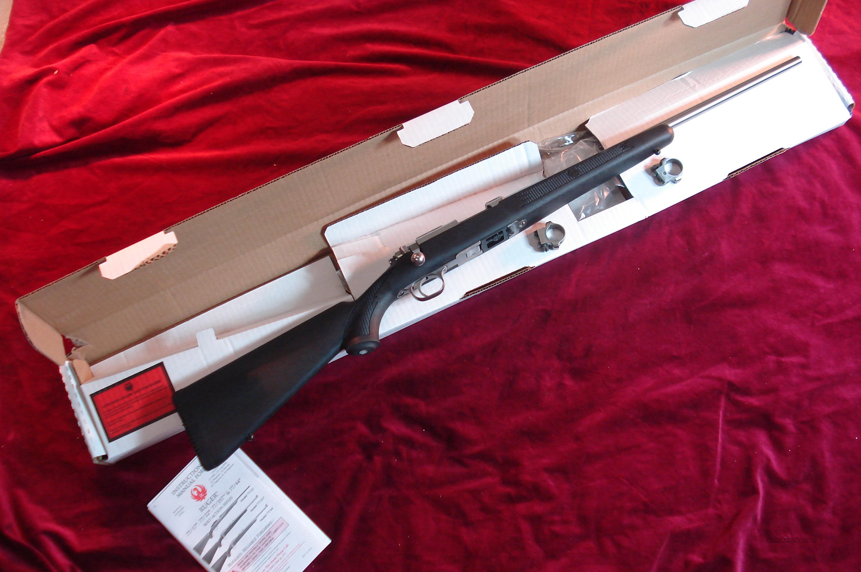 RUGER 77/22  22LR. STAINLESS SYNTHETIC NEW  Guns > Rifles > Ruger Rifles > Model 77