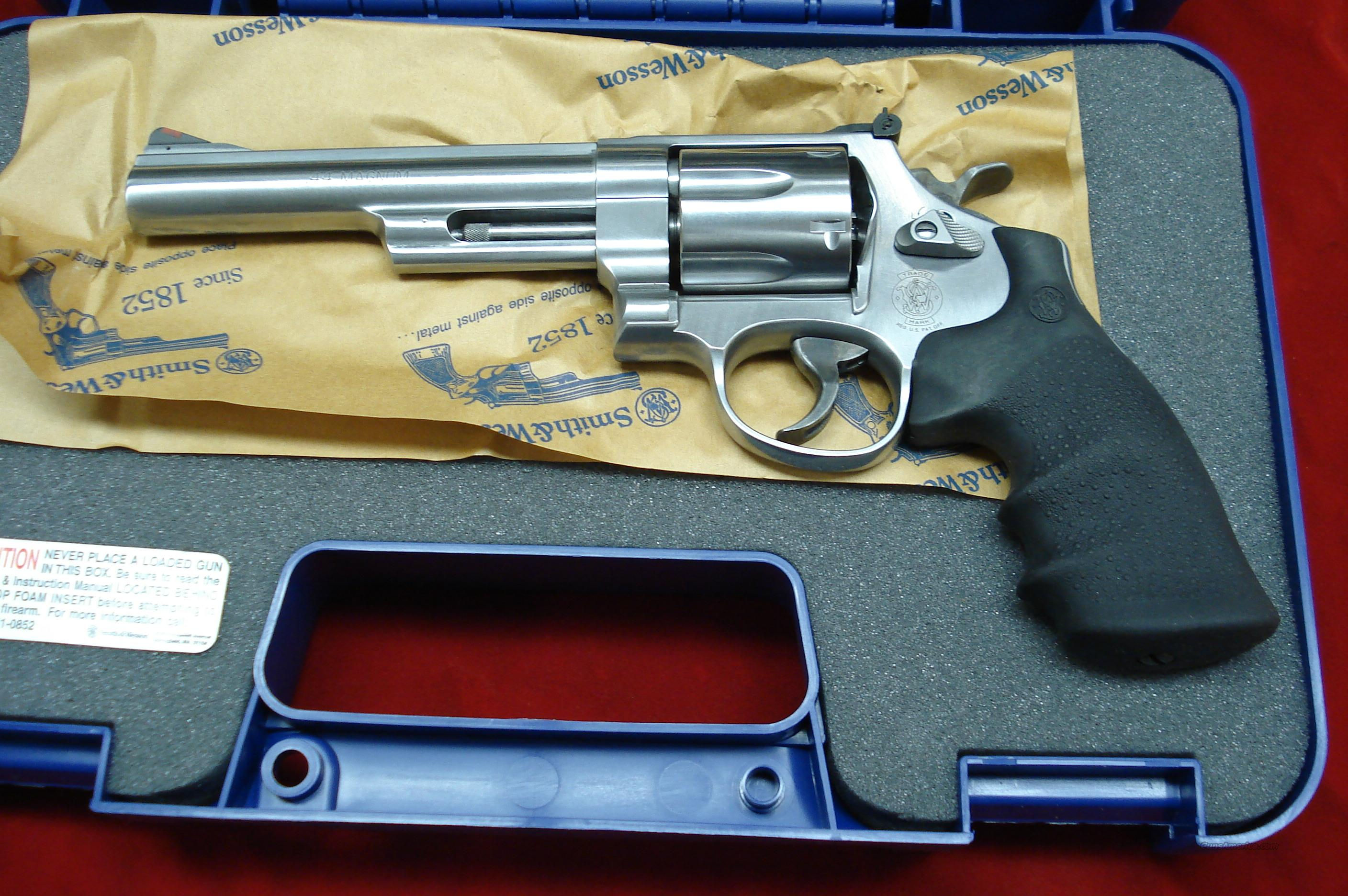 "SMITH AND WESSON MODEL 629  44MAG. 6"" STAINLESS NEW   Guns > Pistols > Smith & Wesson Revolvers > Model 629"