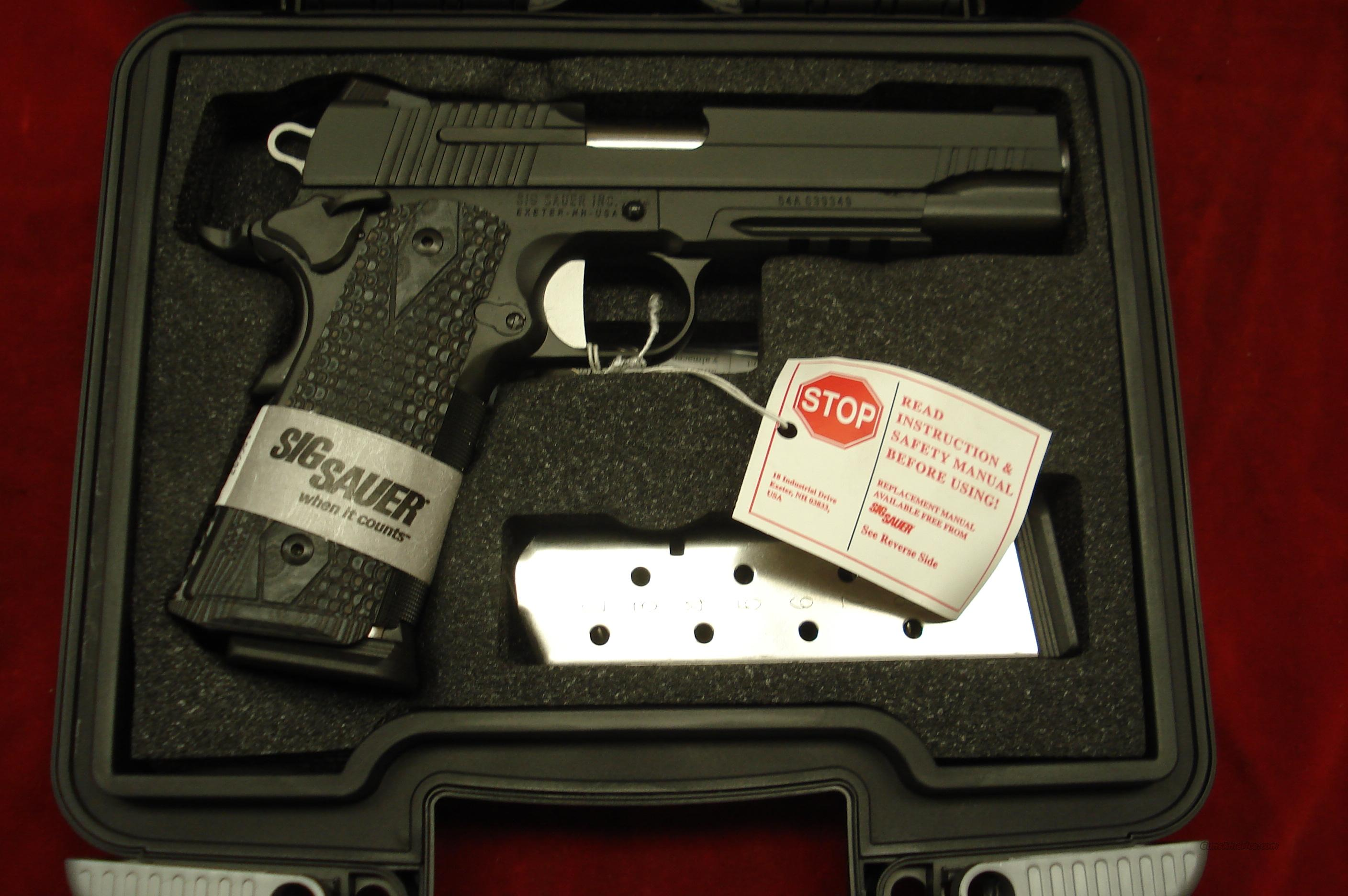 SIG SAUER BLACK 1911 EXTREME WITH TAC RAIL AND NIGHT SIGHTS NEW   Guns > Pistols > Sig - Sauer/Sigarms Pistols > 1911